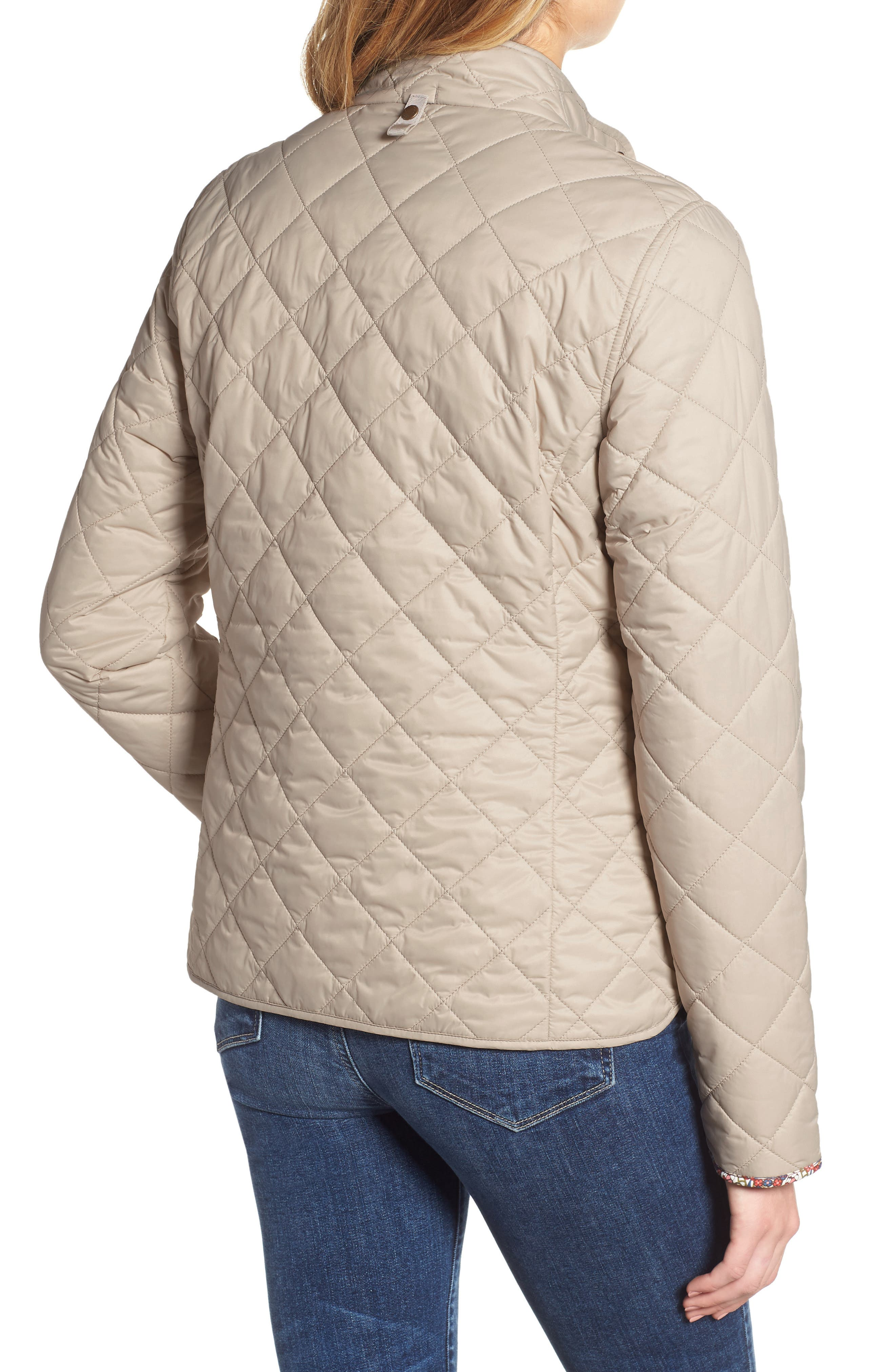 BARBOUR,                             x Liberty Evelyn Quilted Jacket,                             Alternate thumbnail 2, color,                             MIST/ MORRIS BUTTERFLY