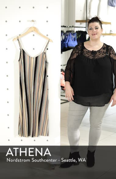 Jasmine Stripe Midi Dress, sales video thumbnail