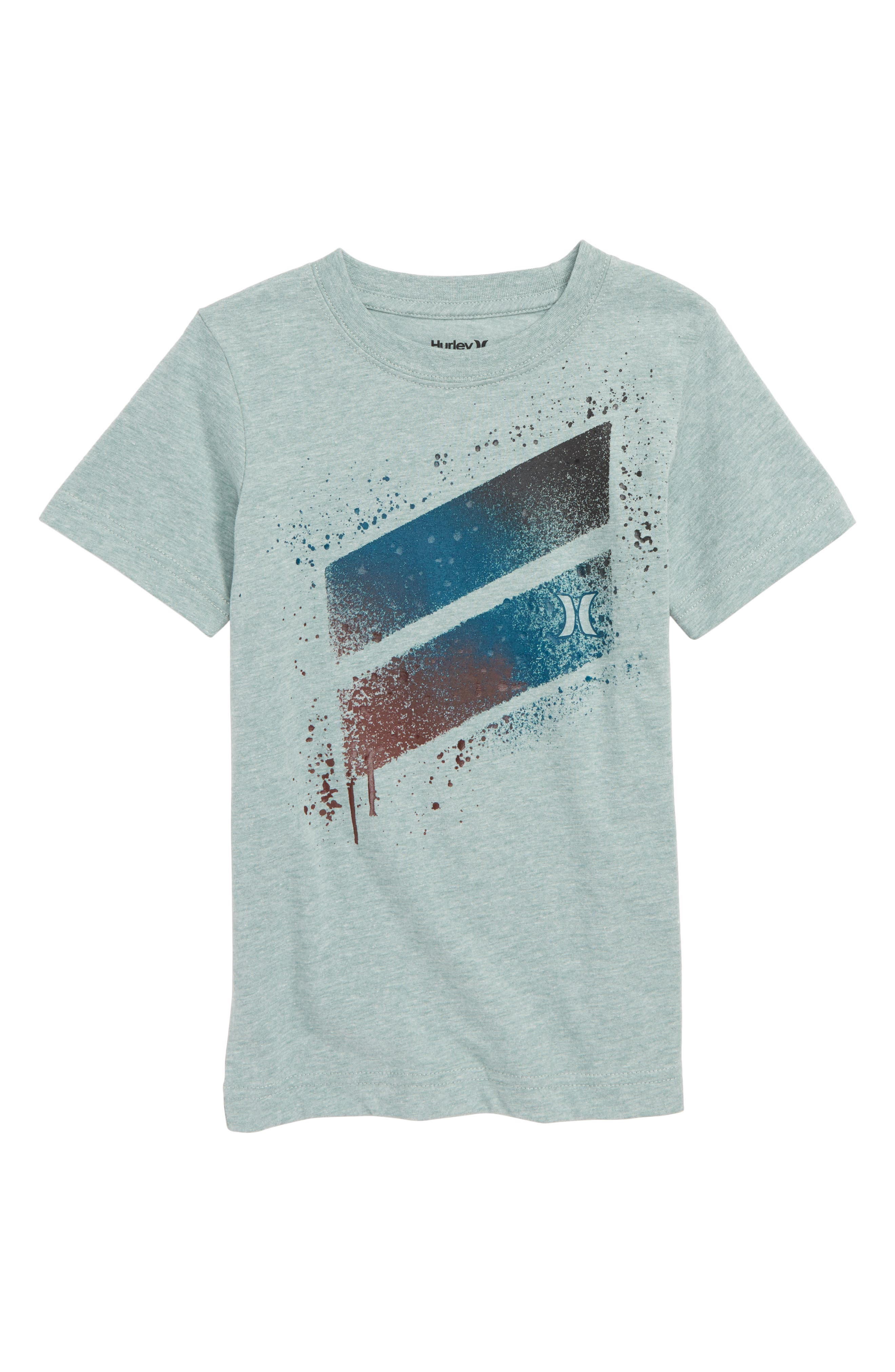 Spray Splash Graphic T-Shirt,                         Main,                         color, CLAY GREEN HEATHER