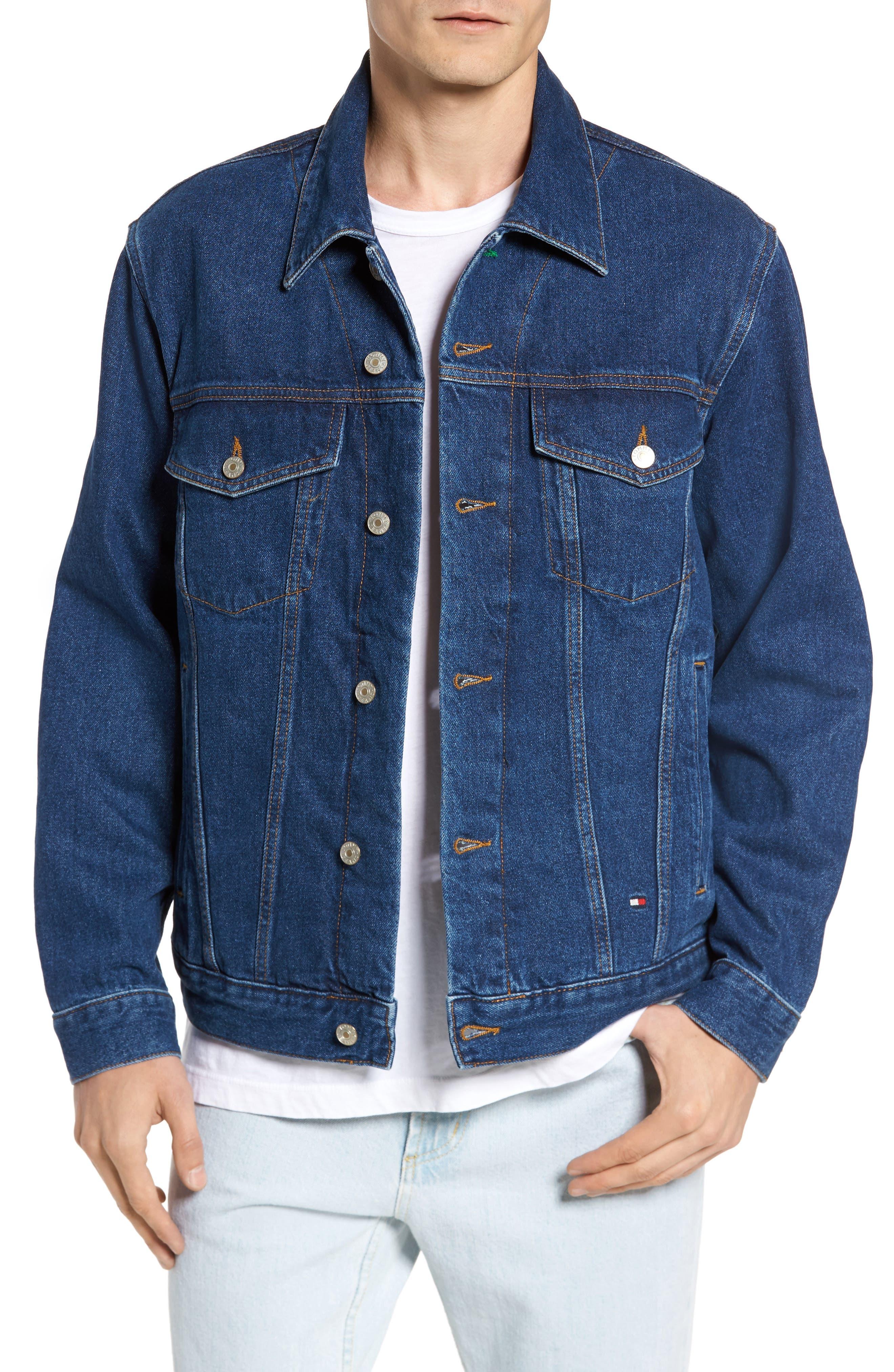 TOMMY HILFIGER 90s Denim Jacket, Main, color, 411