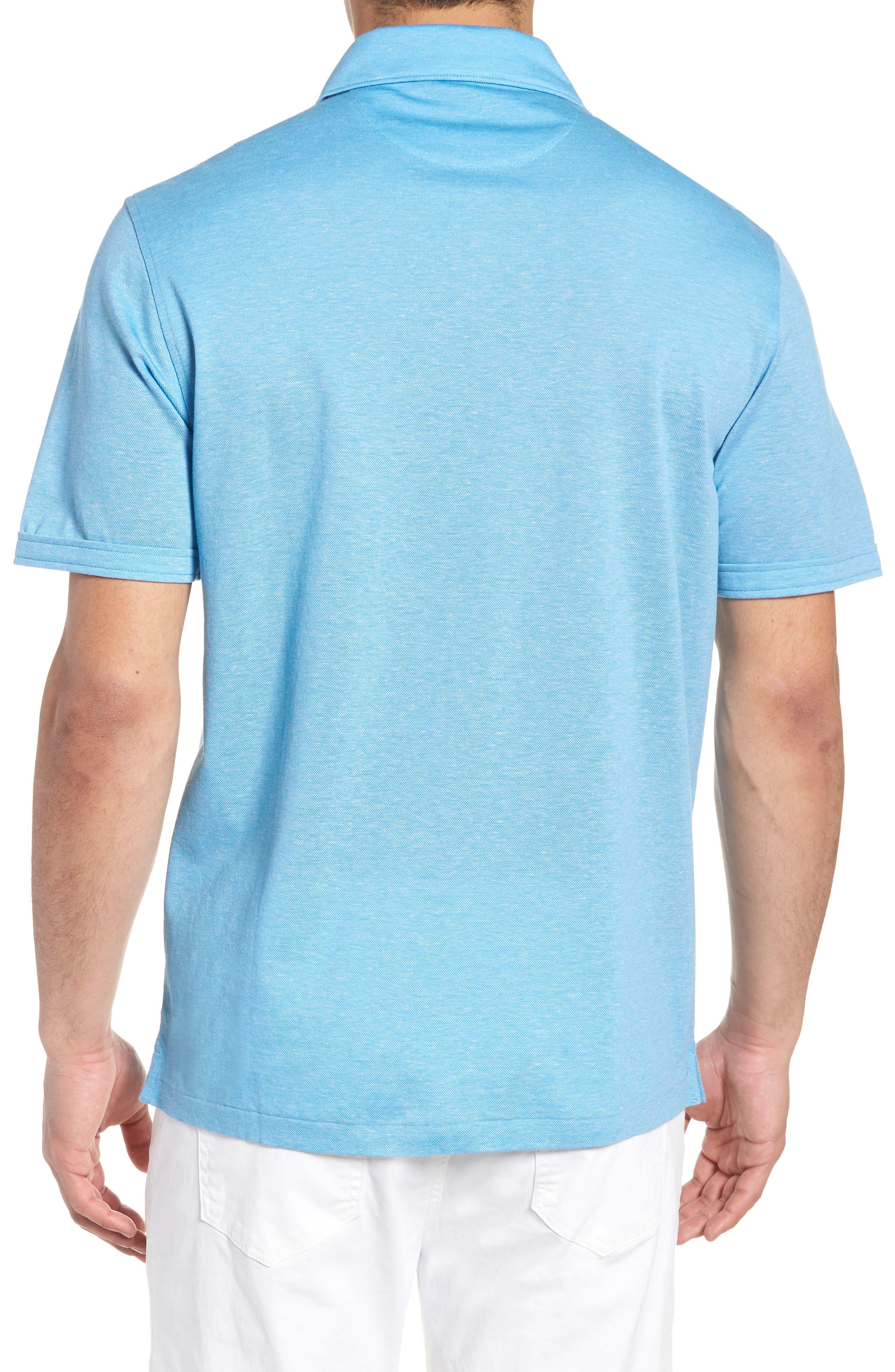 Regular Fit Heather Knit Sport Shirt,                             Alternate thumbnail 2, color,                             AIR BLUE