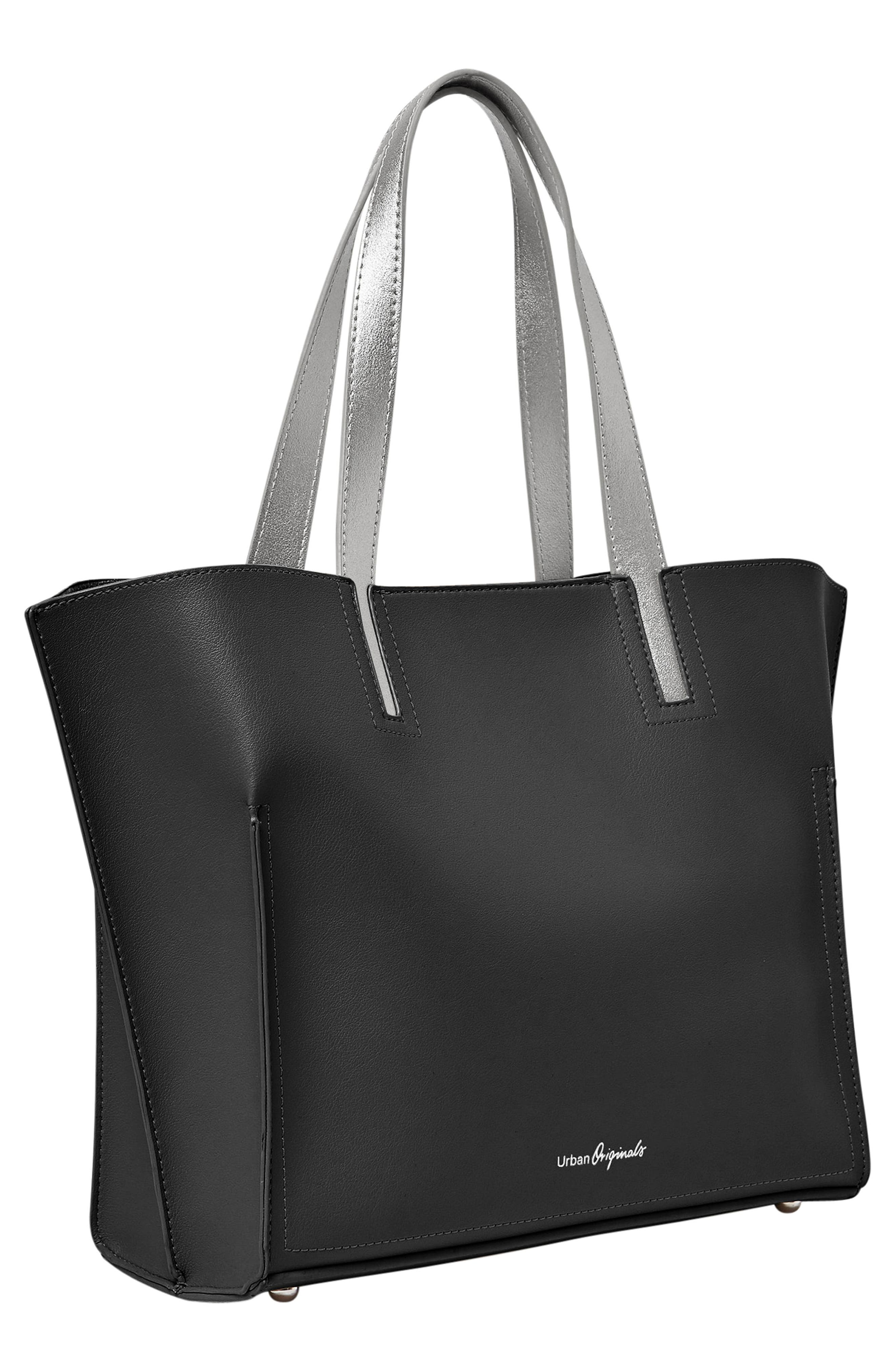 Obsession Vegan Leather Tote,                             Alternate thumbnail 6, color,