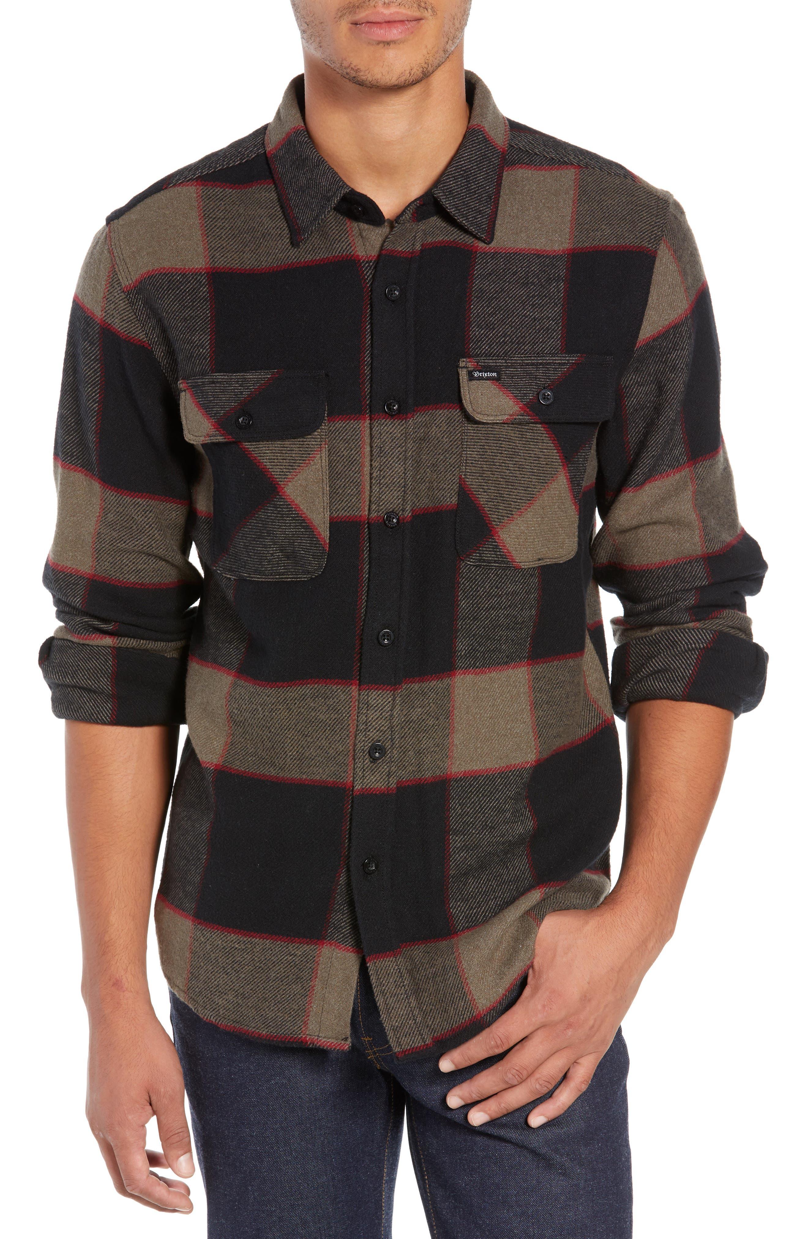 Bowery Flannel Shirt,                             Main thumbnail 3, color,
