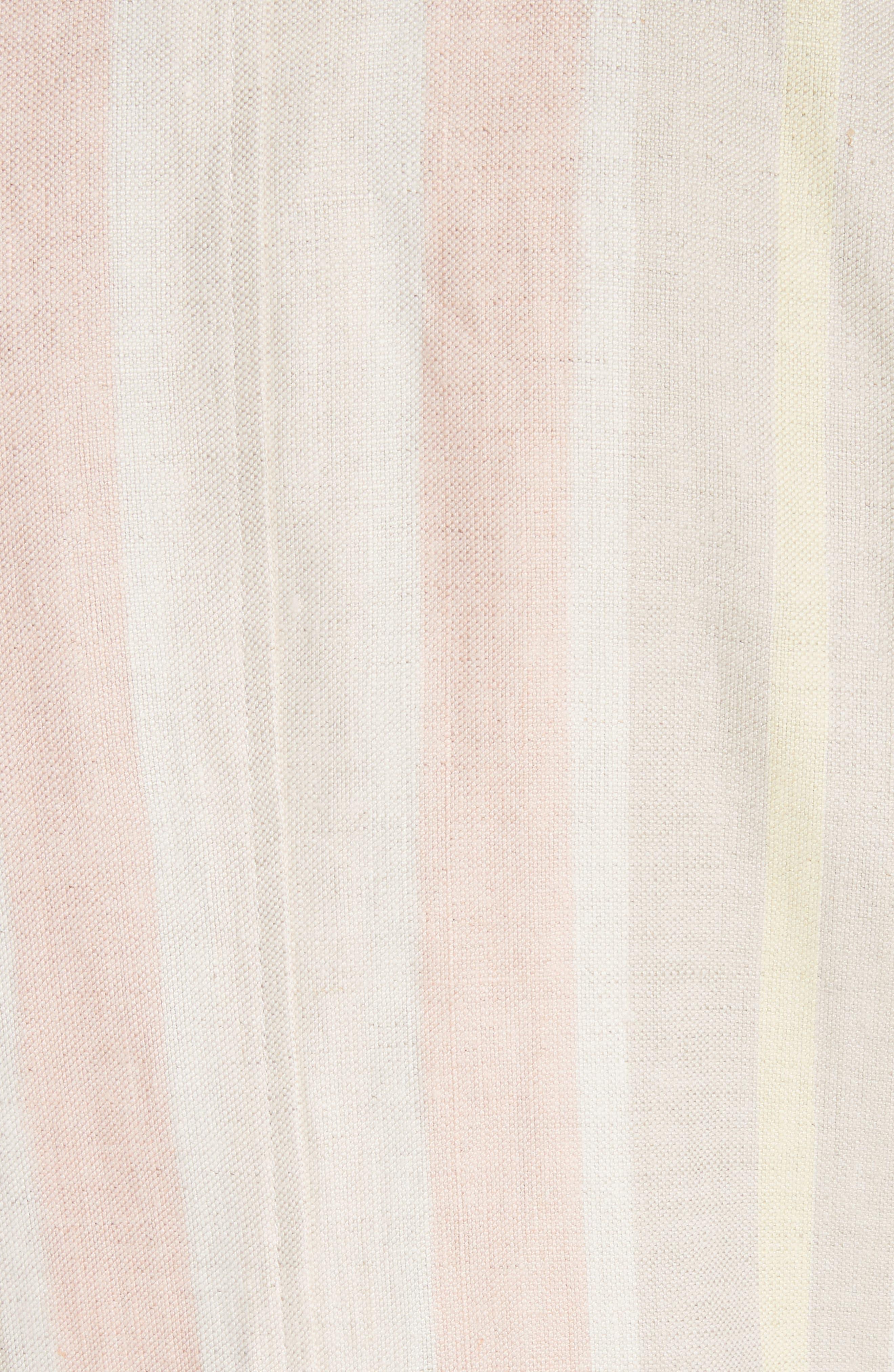 Marie Stripe Linen Jacket,                             Alternate thumbnail 6, color,