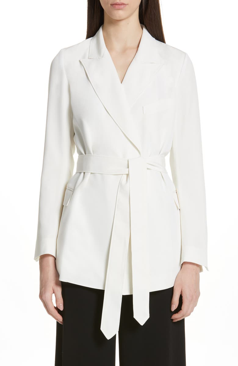 Co TIE WAIST STRETCH CREPE BLAZER