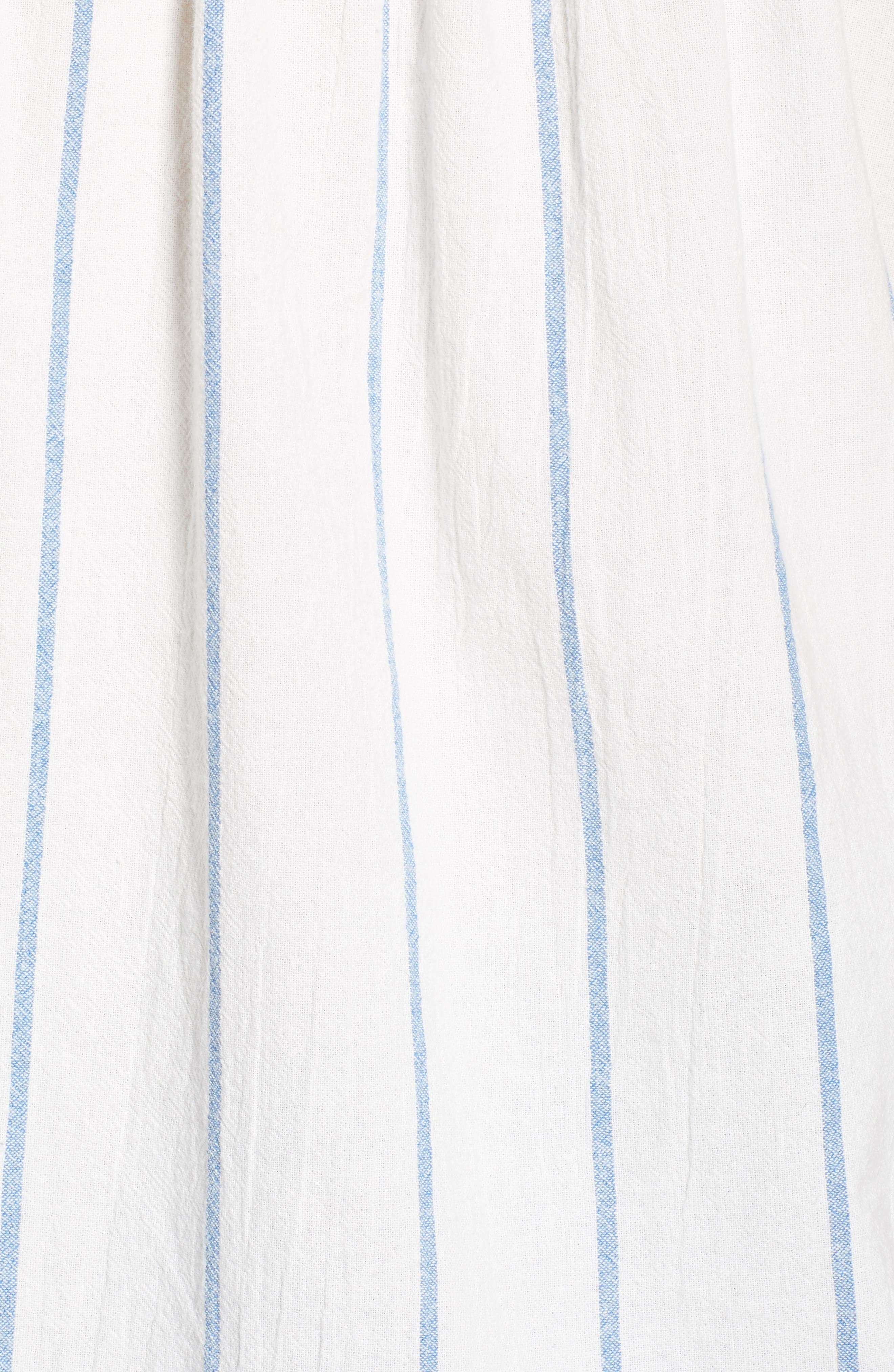 Stripe Cap Sleeve Top,                             Alternate thumbnail 5, color,                             900