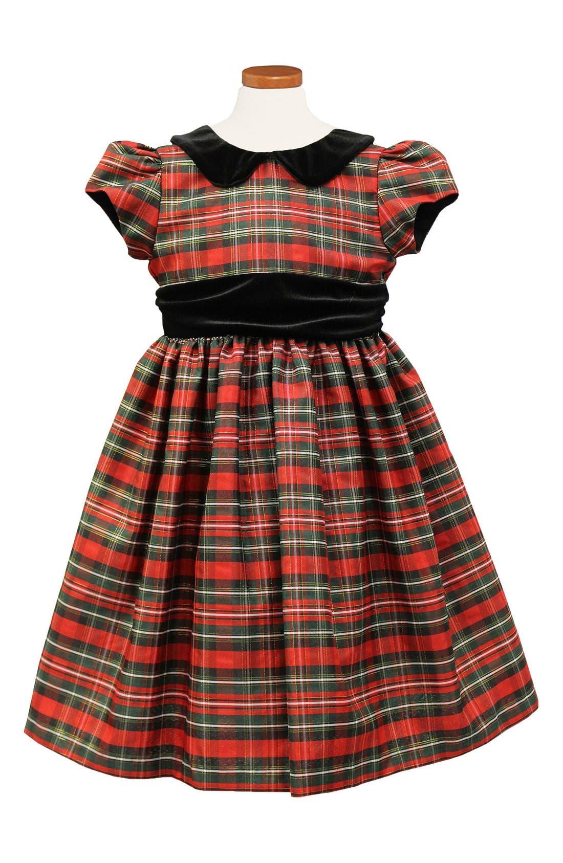 Metallic Plaid Dress,                             Main thumbnail 1, color,                             600