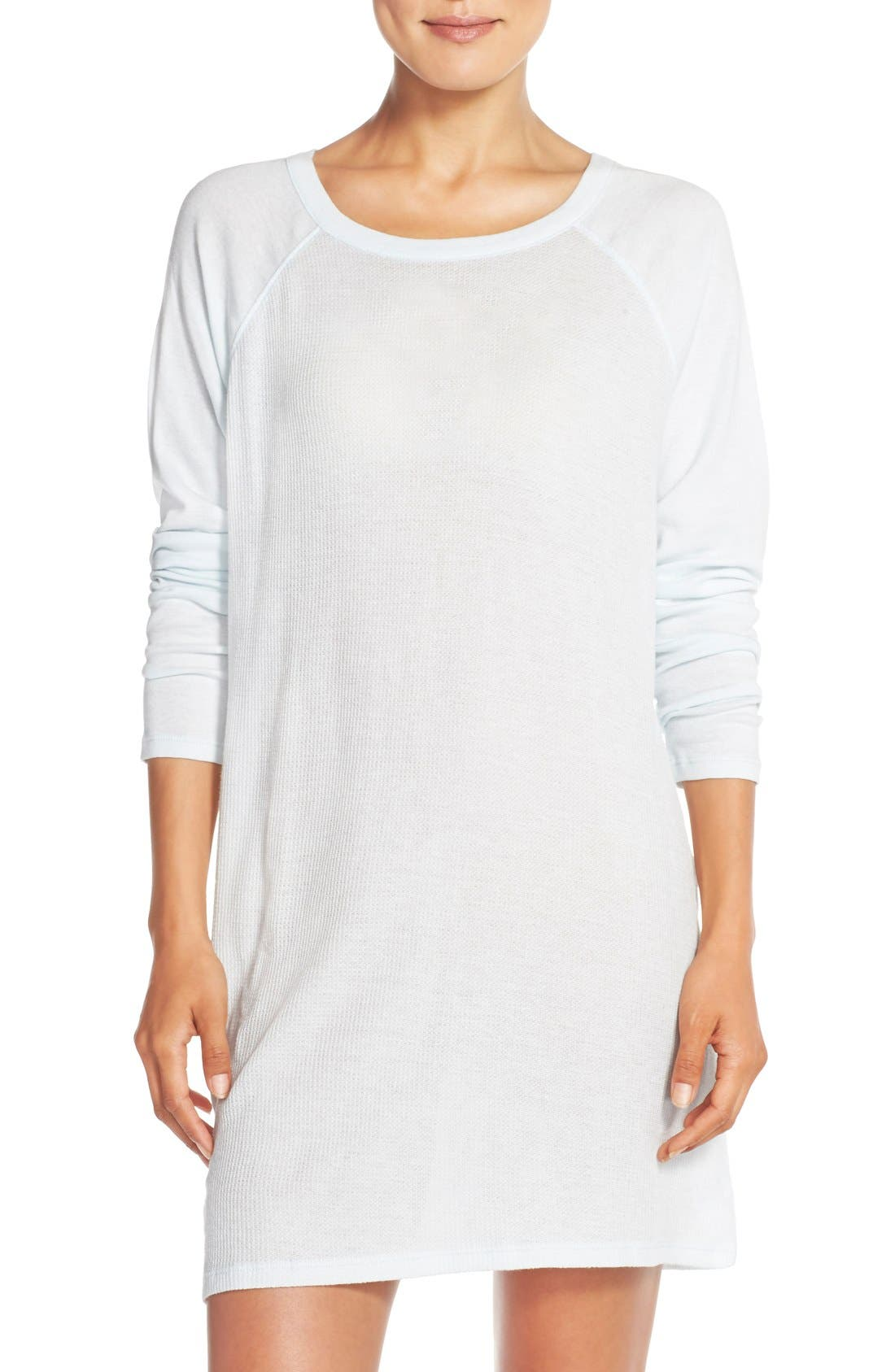 Waffle Knit Pima Cotton Tunic, Main, color, 400
