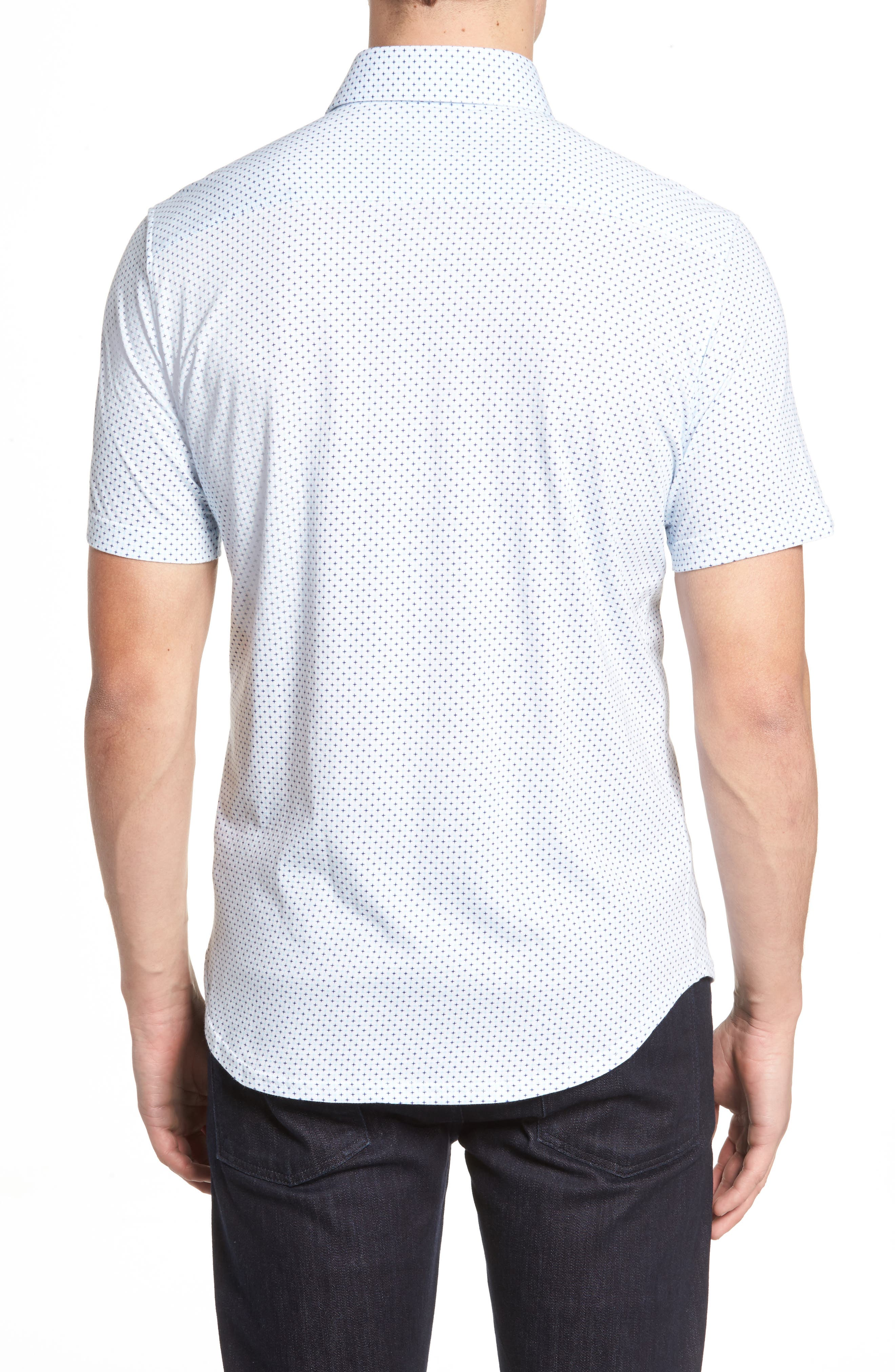 Trim Fit Geo Print Sport Shirt,                             Alternate thumbnail 2, color,                             100