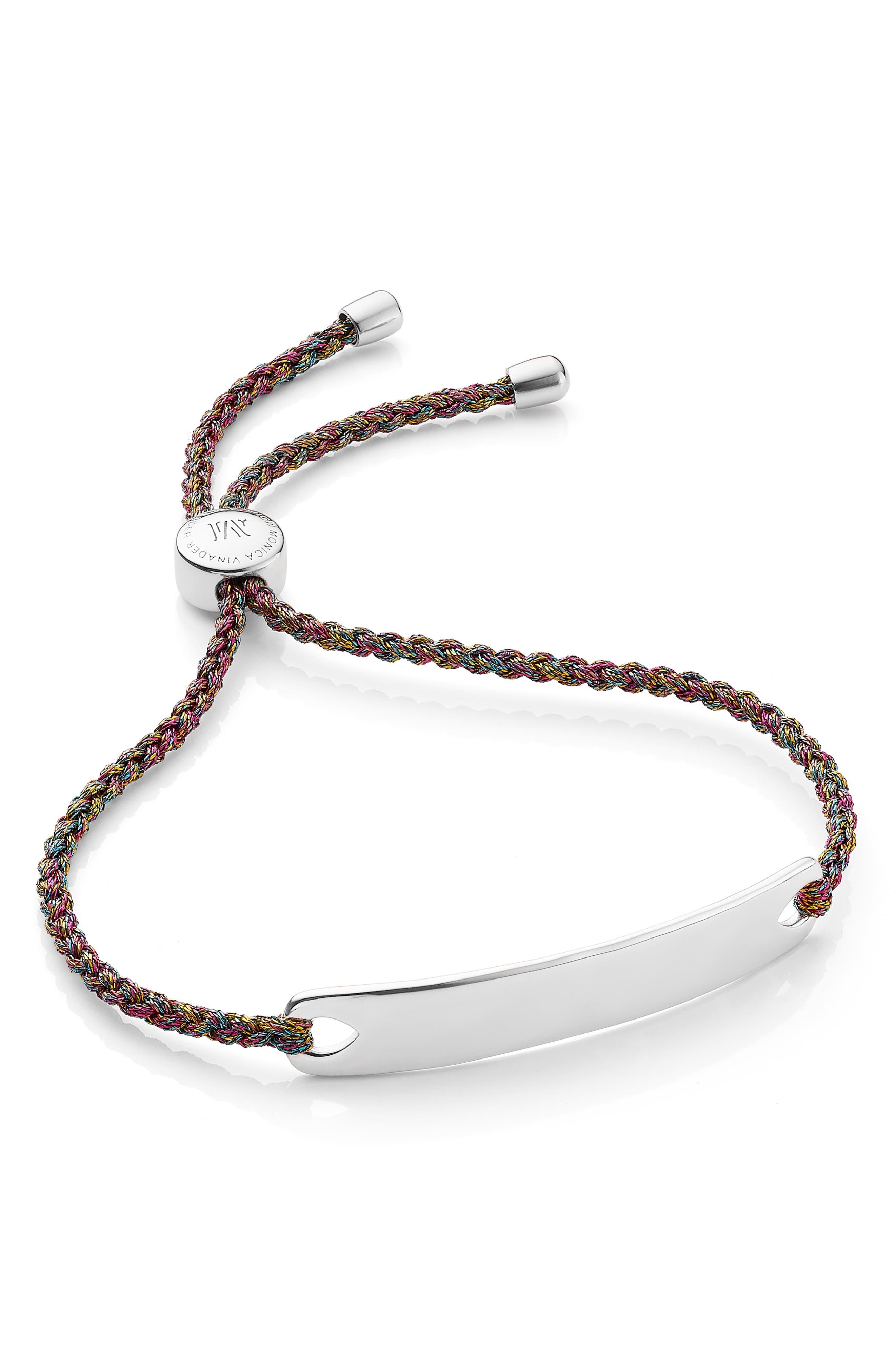 Engravable HavanaFriendship Bracelet,                         Main,                         color, SILVER