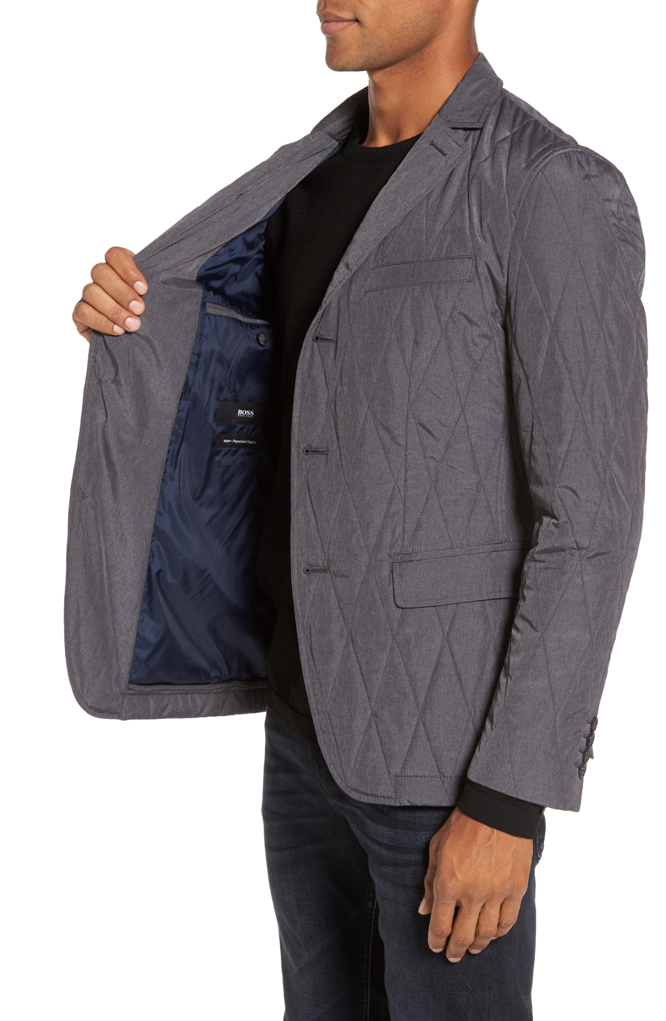 Jord Water Repellent Quilted Sport Coat,                             Alternate thumbnail 3, color,