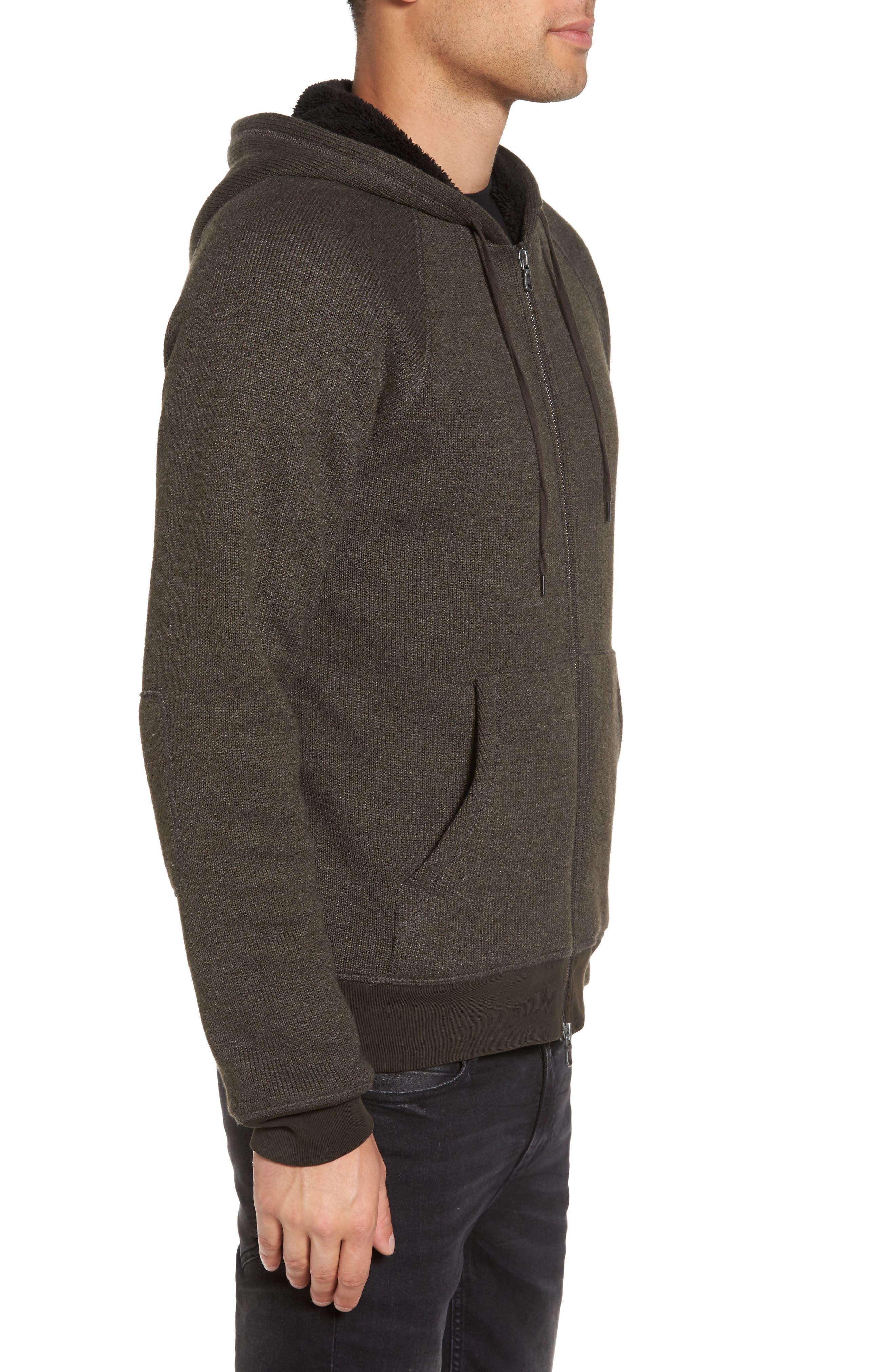 Fleece Lined Zip Hoodie,                             Alternate thumbnail 3, color,                             391