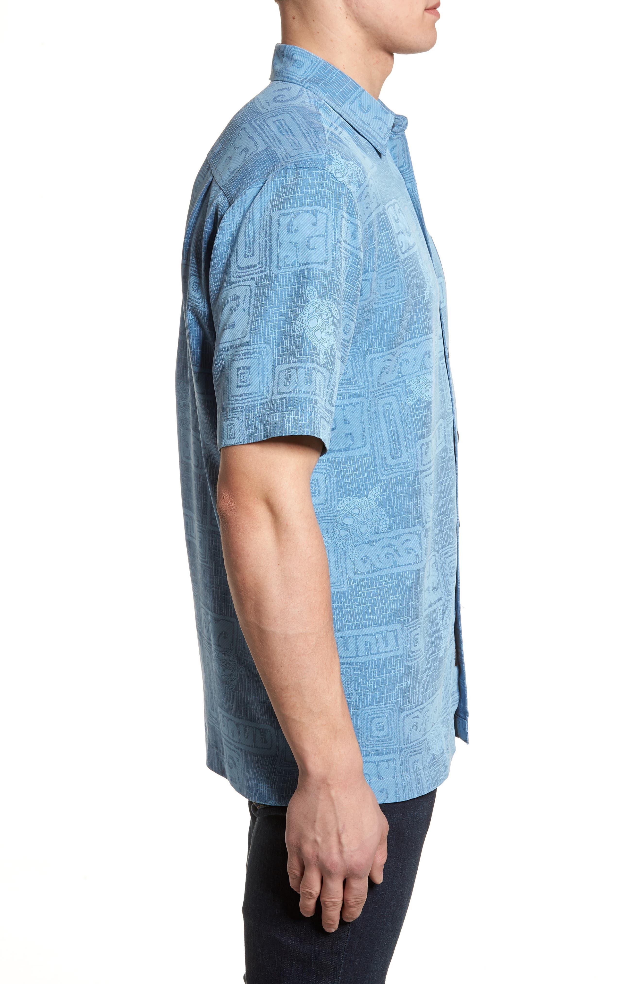 Sea Shells Classic Fit Sport Shirt,                             Alternate thumbnail 9, color,