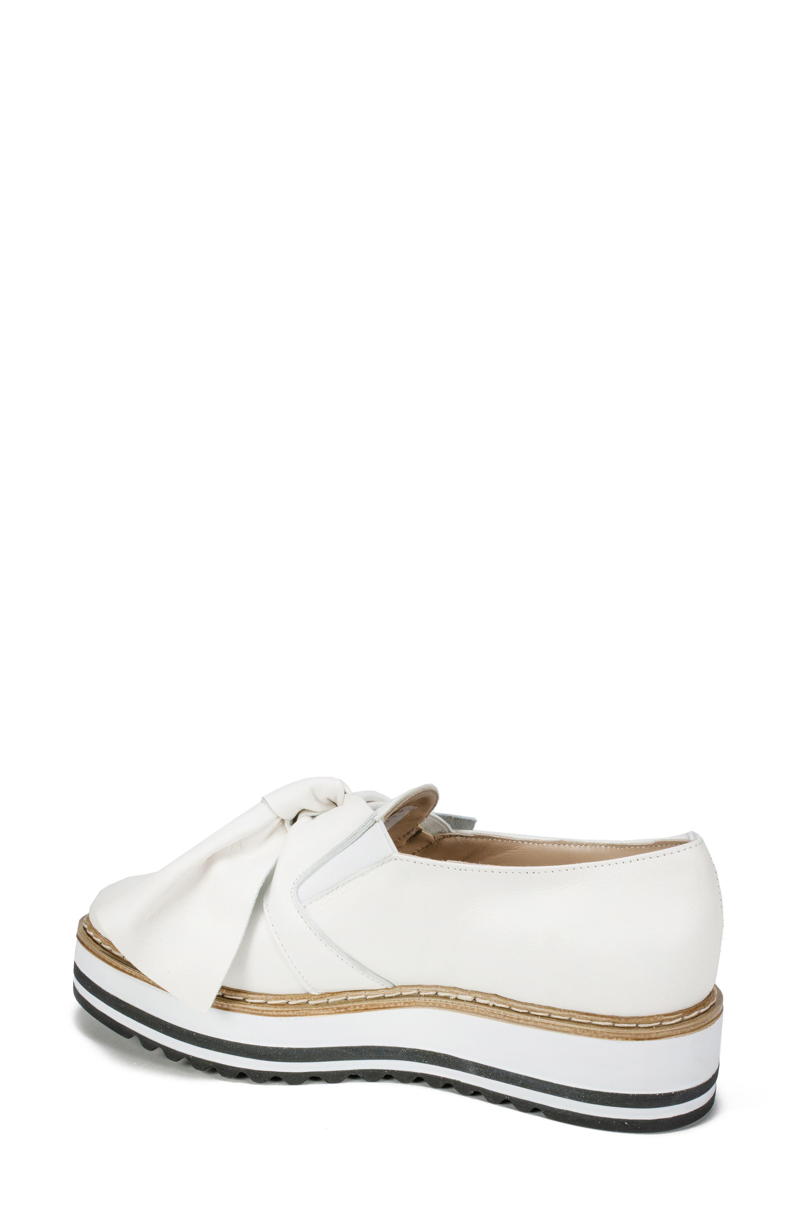 Bella Platform Loafer,                             Alternate thumbnail 2, color,                             WHITE LEATHER