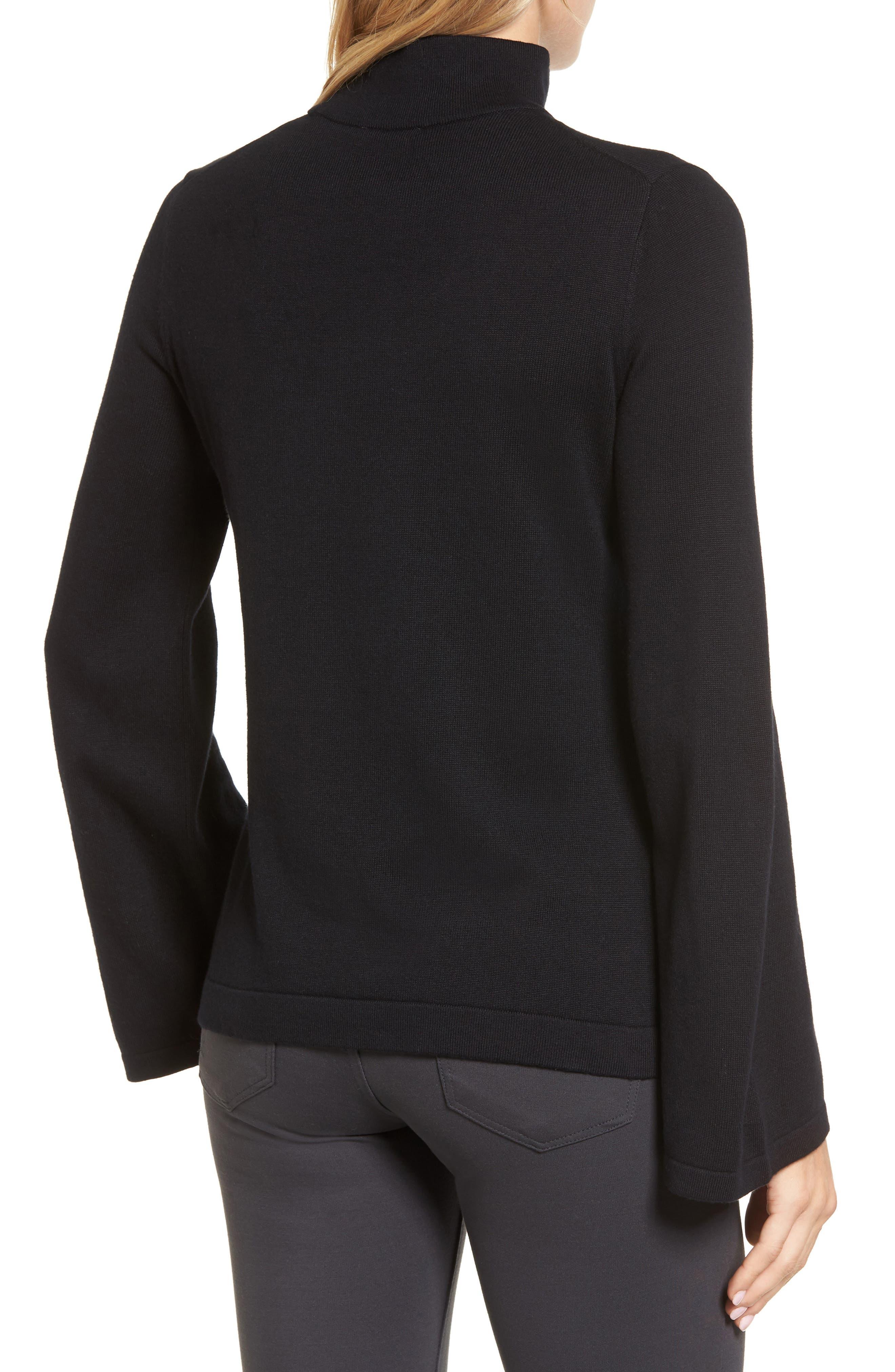 Bell Sleeve Choker Neck Sweater,                             Alternate thumbnail 6, color,