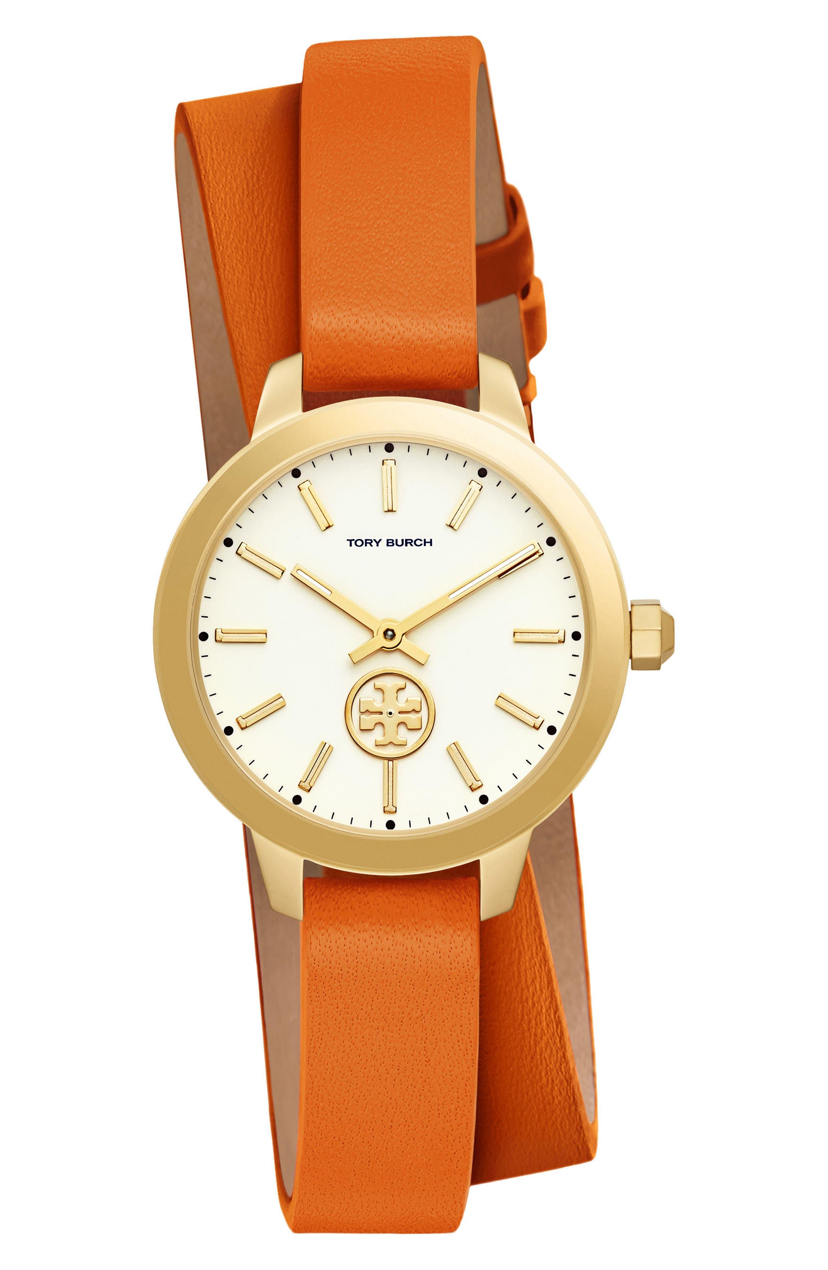 Collins Double Wrap Leather Strap Watch, 32mm,                             Main thumbnail 3, color,