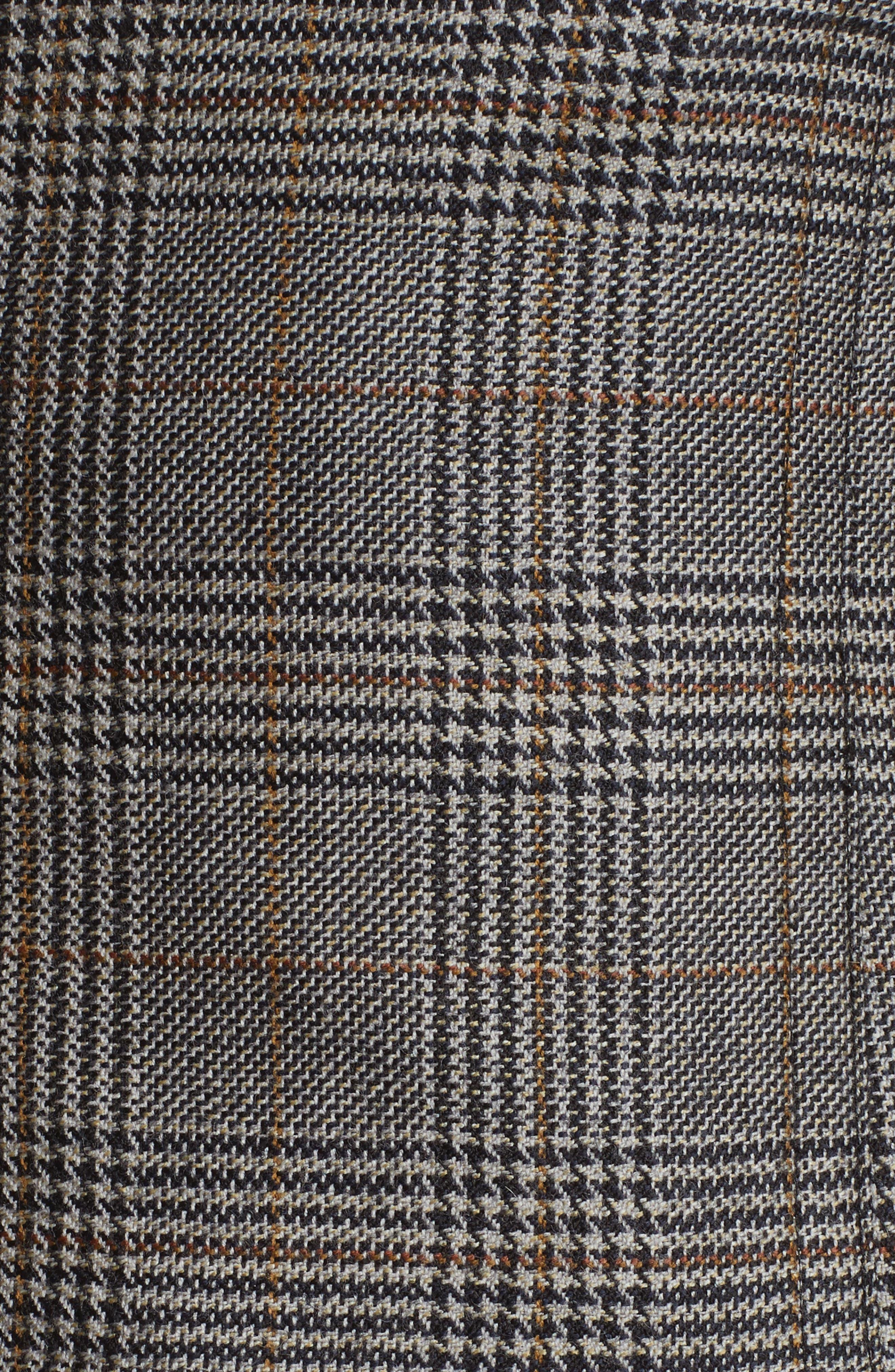 Chester Glen Plaid Wool Corset,                             Alternate thumbnail 5, color,                             020