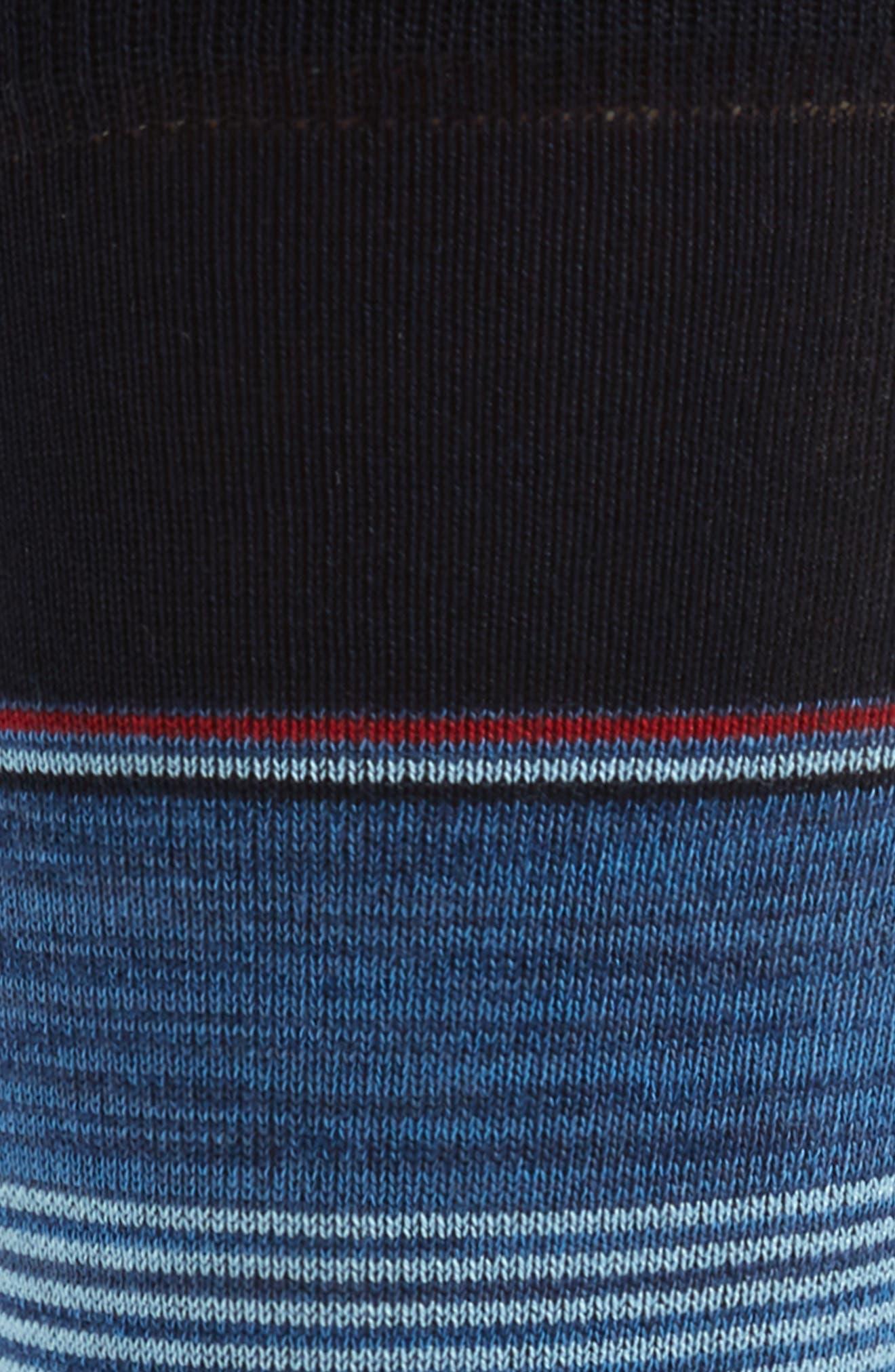 Stripe Socks,                             Alternate thumbnail 2, color,                             DENIM