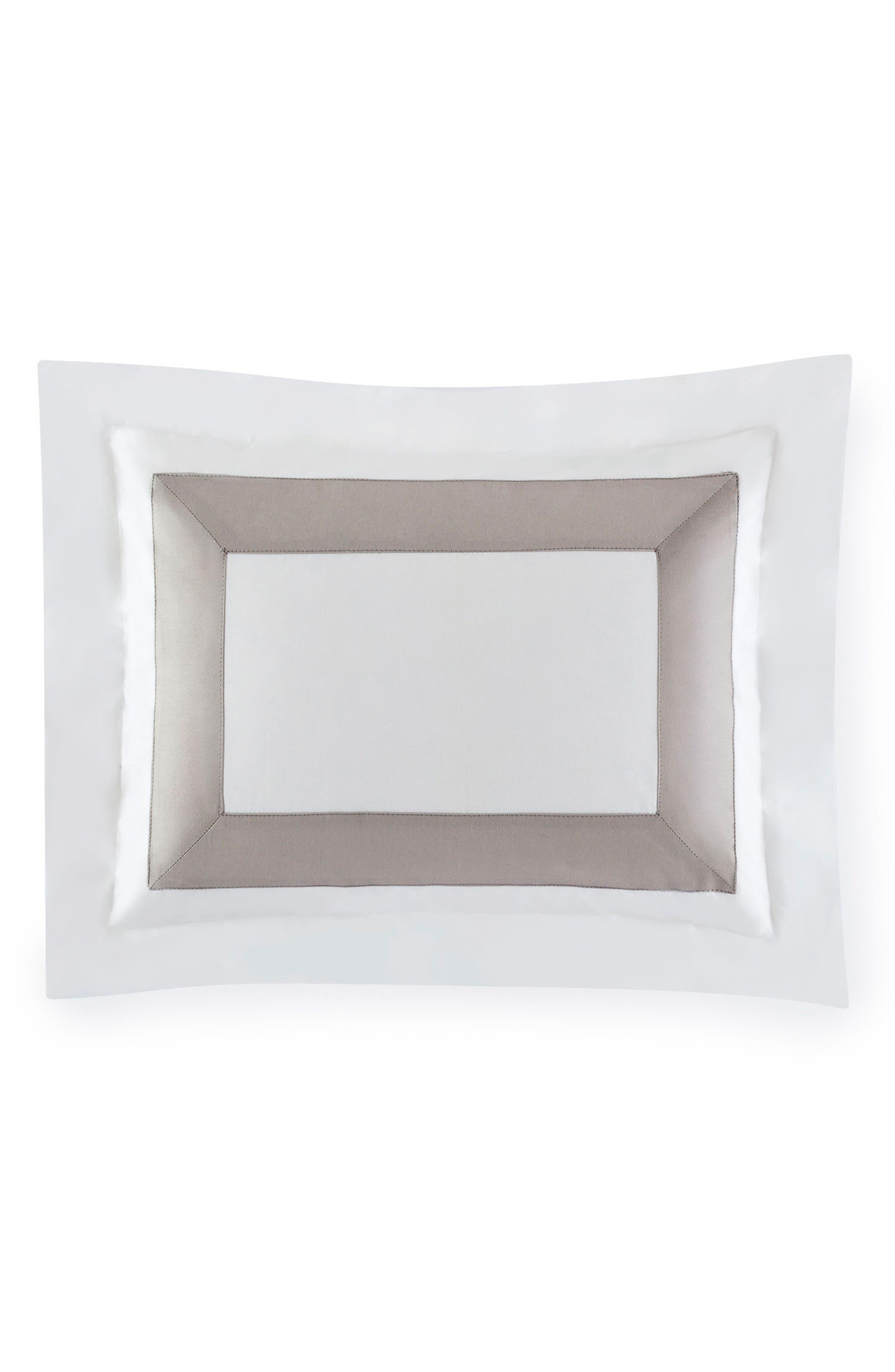 Orlo Boudoir Sham,                         Main,                         color, WHITE/ GREY