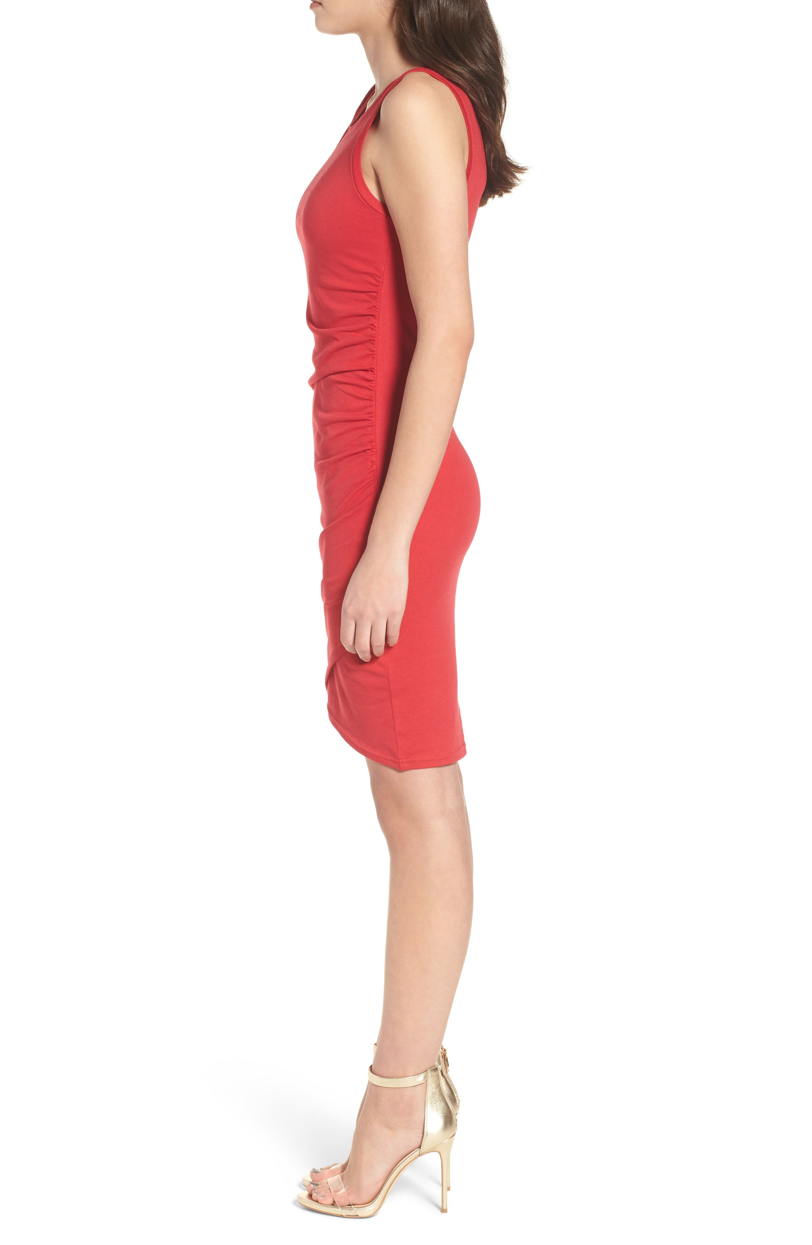 Ruched Body-Con Tank Dress,                             Alternate thumbnail 84, color,