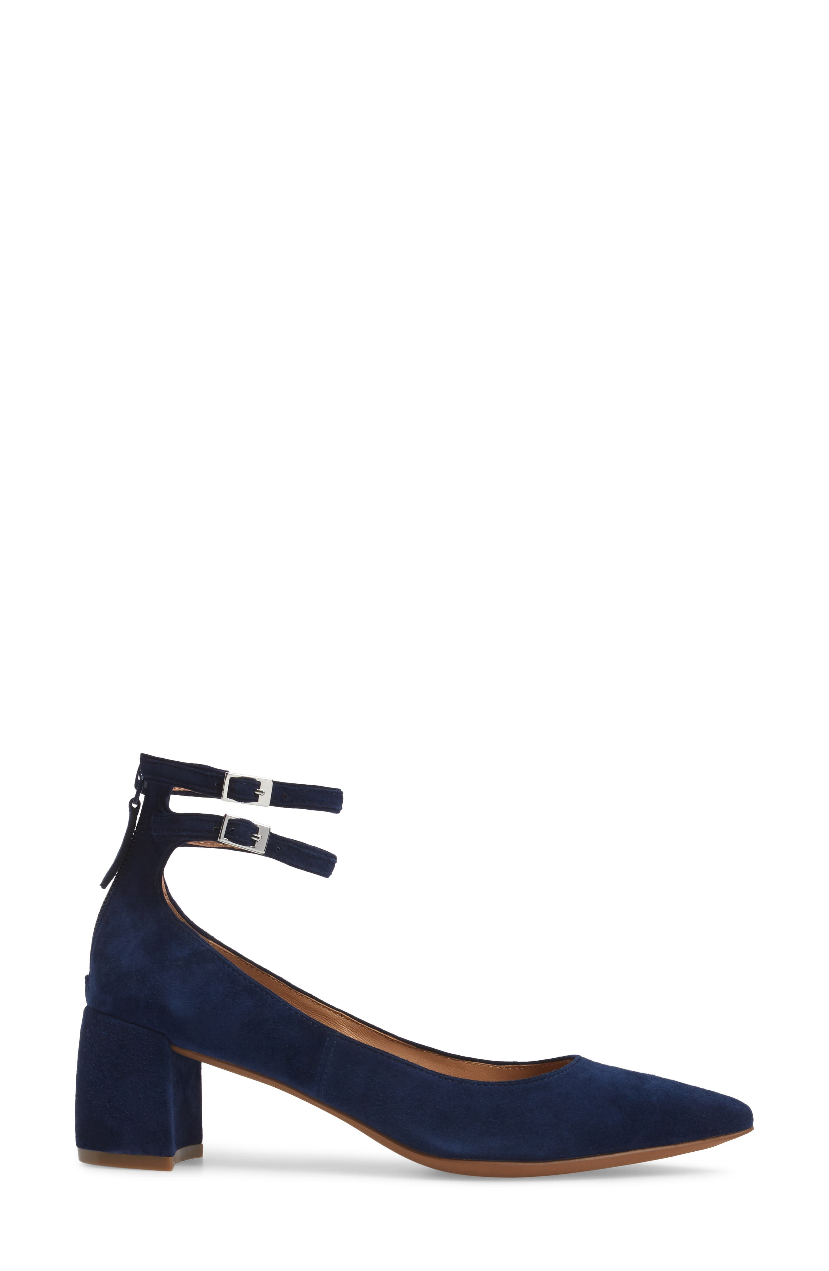 'Noel' Pointy Toe Ankle Strap Pump,                             Alternate thumbnail 3, color,                             412