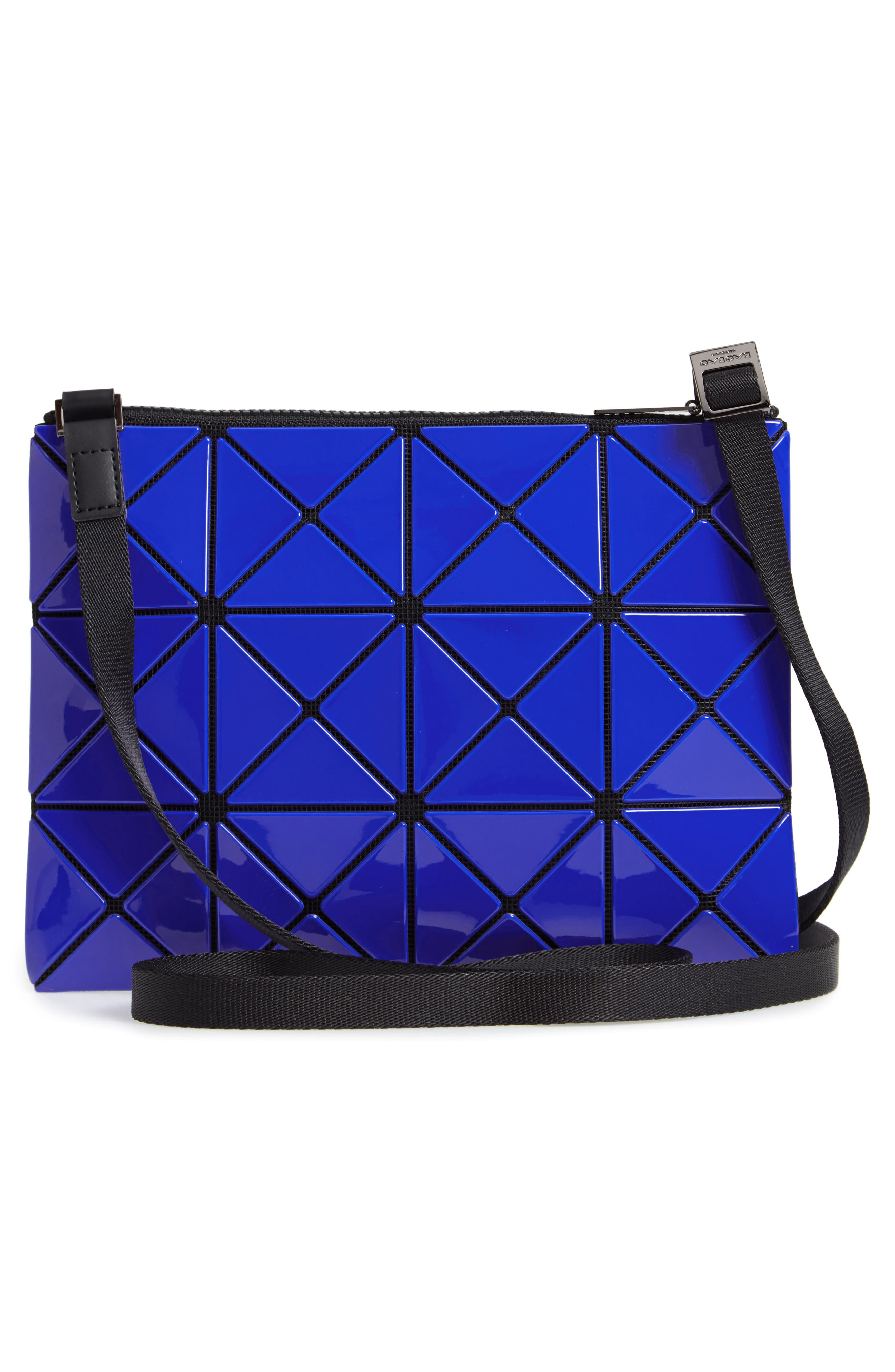 Lucent Two-Tone Crossbody Bag,                             Alternate thumbnail 3, color,                             BLUE/ DARK BLUE