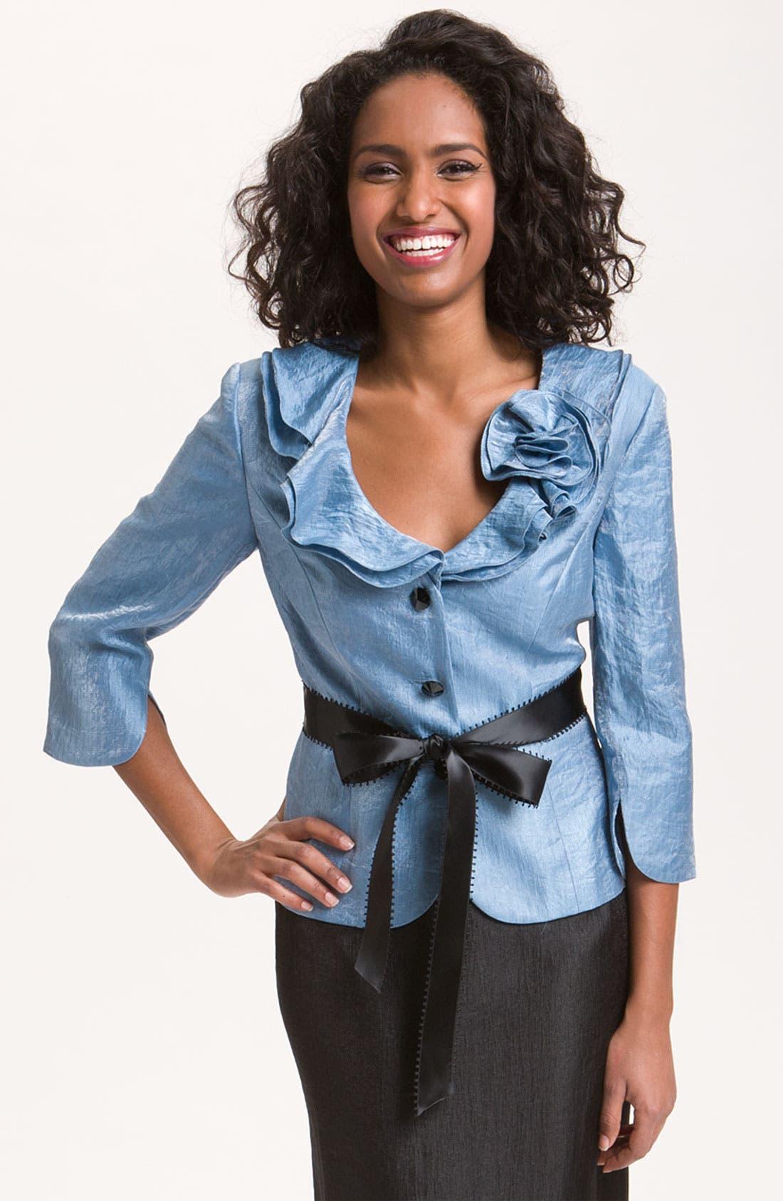 Shimmer Crepe Jacket,                             Main thumbnail 3, color,