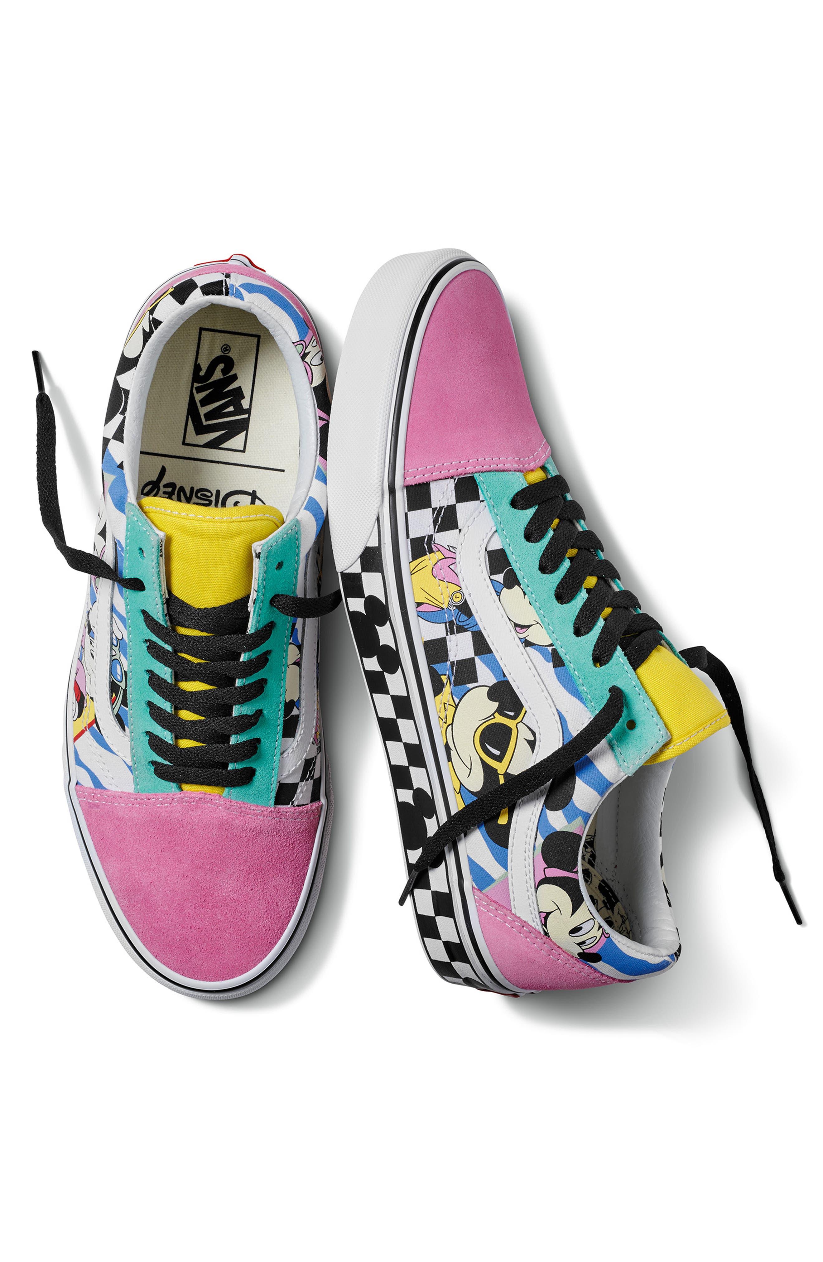 x Disney Old Skool Sneaker,                             Alternate thumbnail 4, color,                             DISNEY 80S MICKEY/ TRUE WHITE