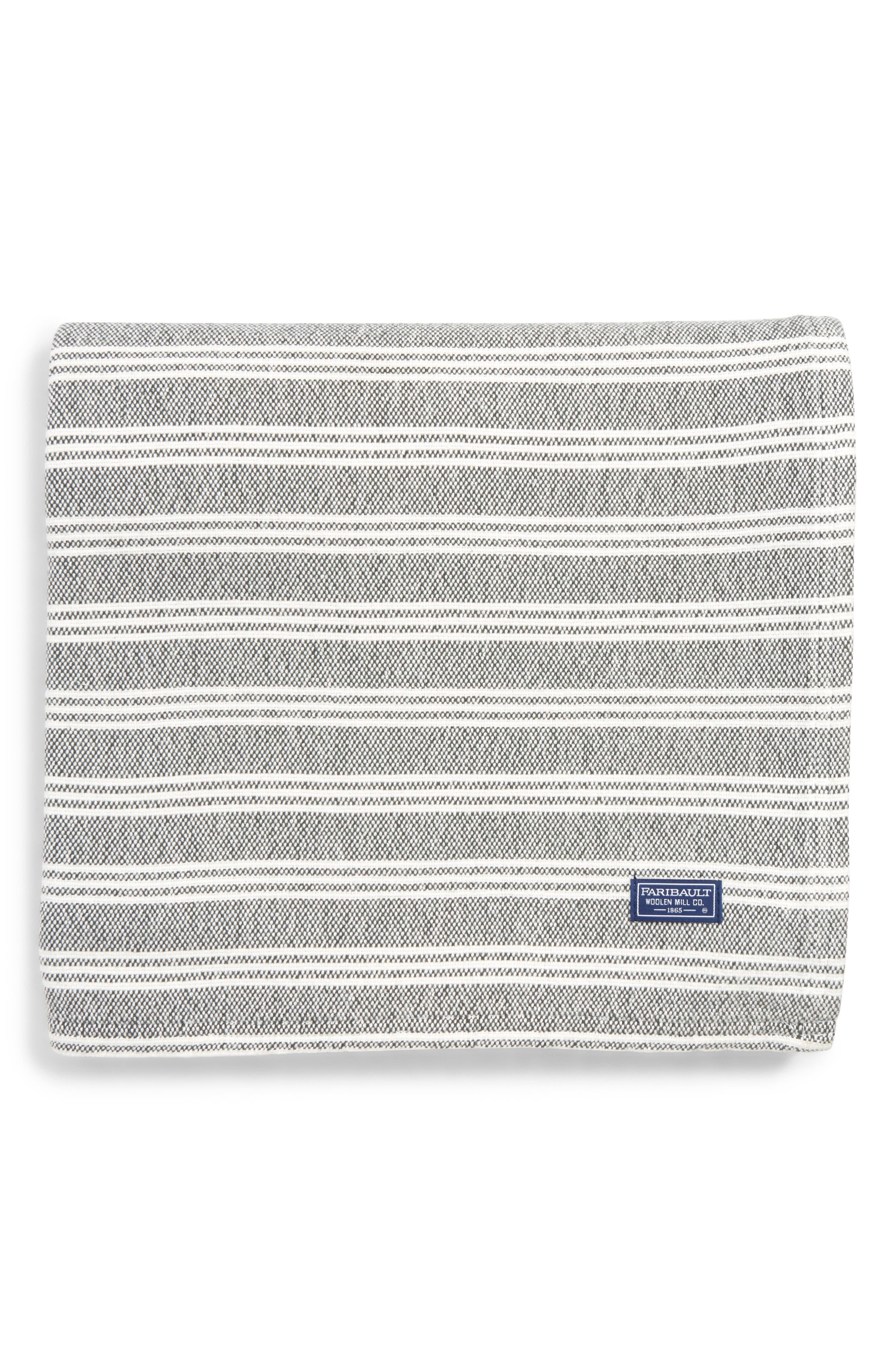 Stripe Throw Blanket,                             Main thumbnail 1, color,                             020