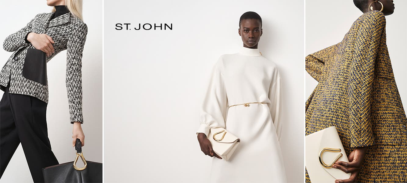 St. John clothing and accessories.