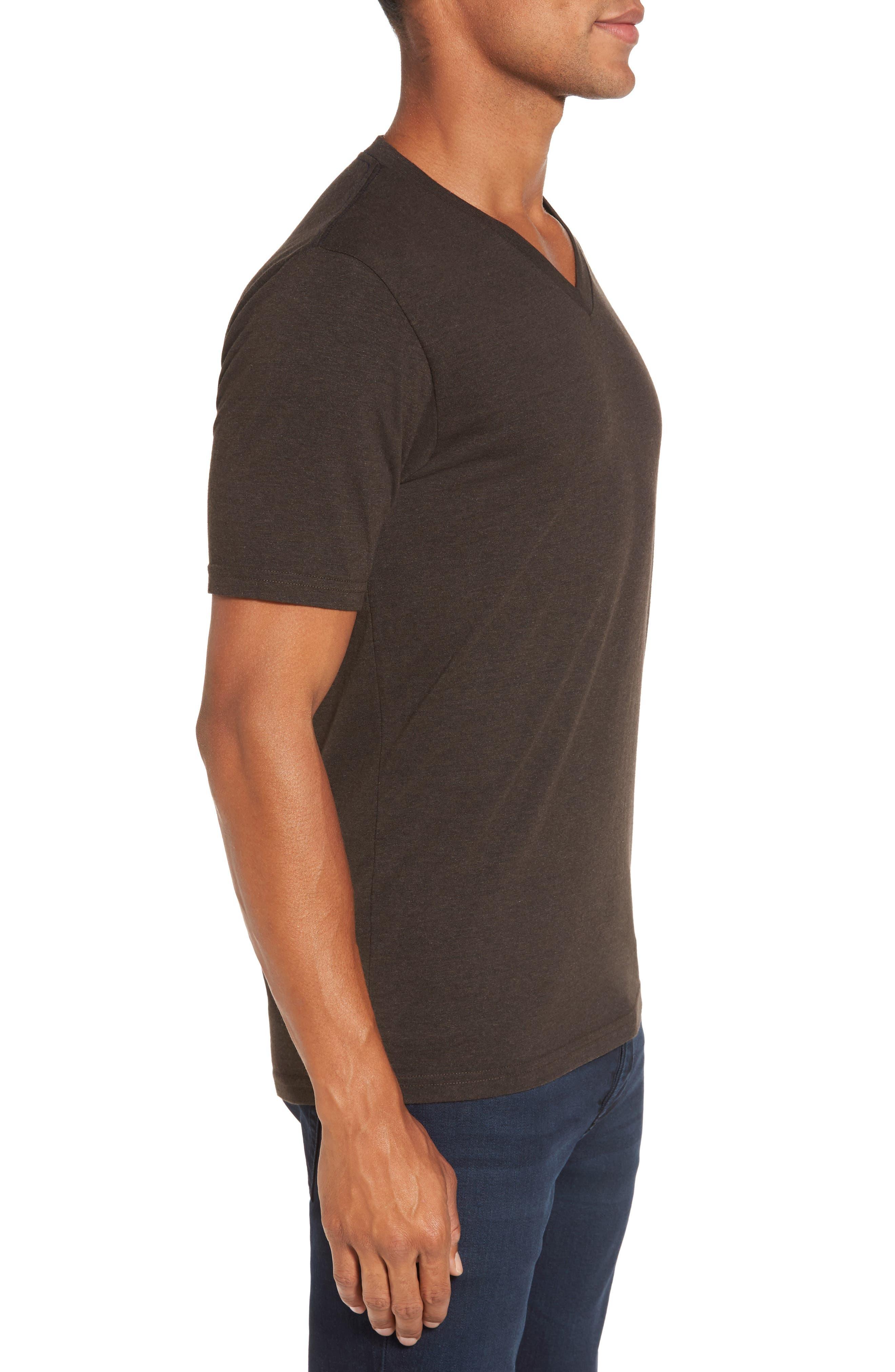 V-Neck Heathered T-Shirt,                             Alternate thumbnail 3, color,                             206