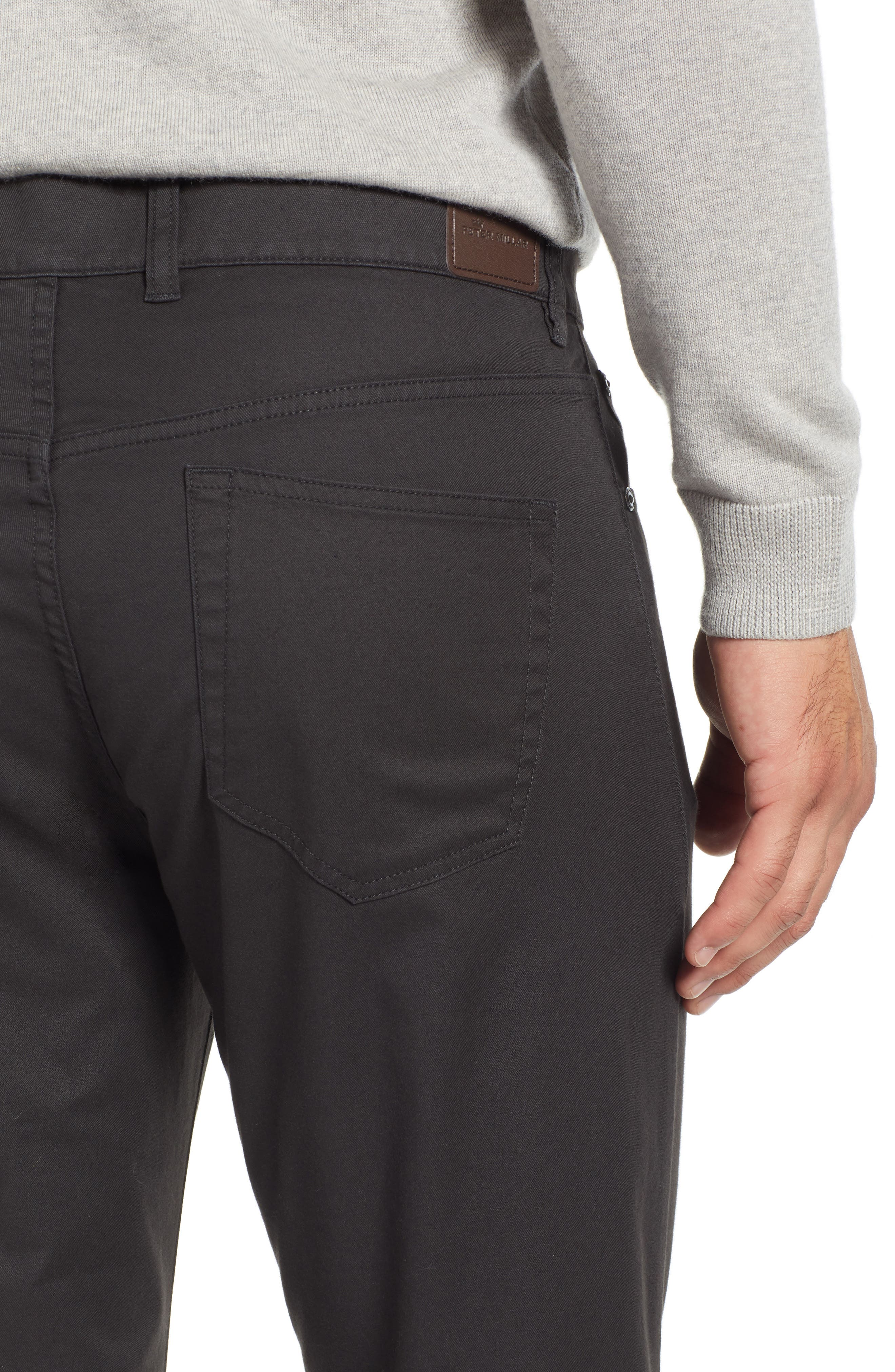 Soft Touch Twill Pants,                             Alternate thumbnail 4, color,                             BLACK