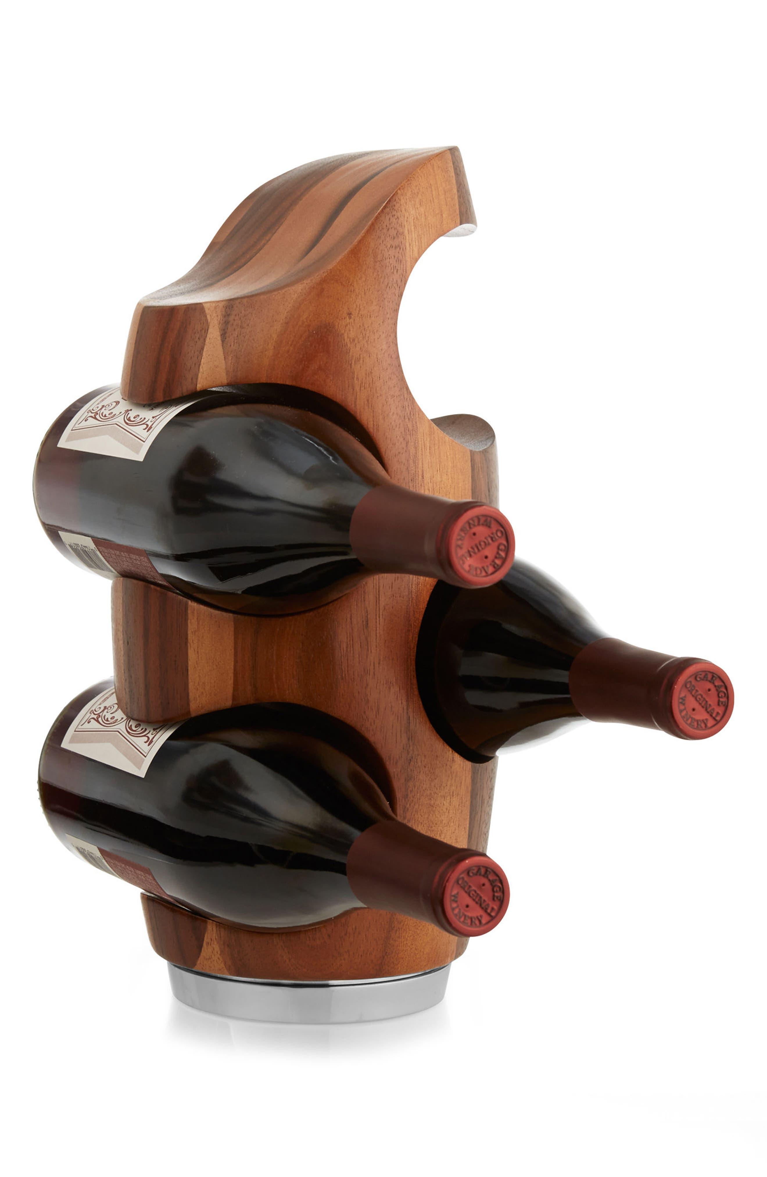 Vie Wine Rack,                             Alternate thumbnail 2, color,                             BROWN