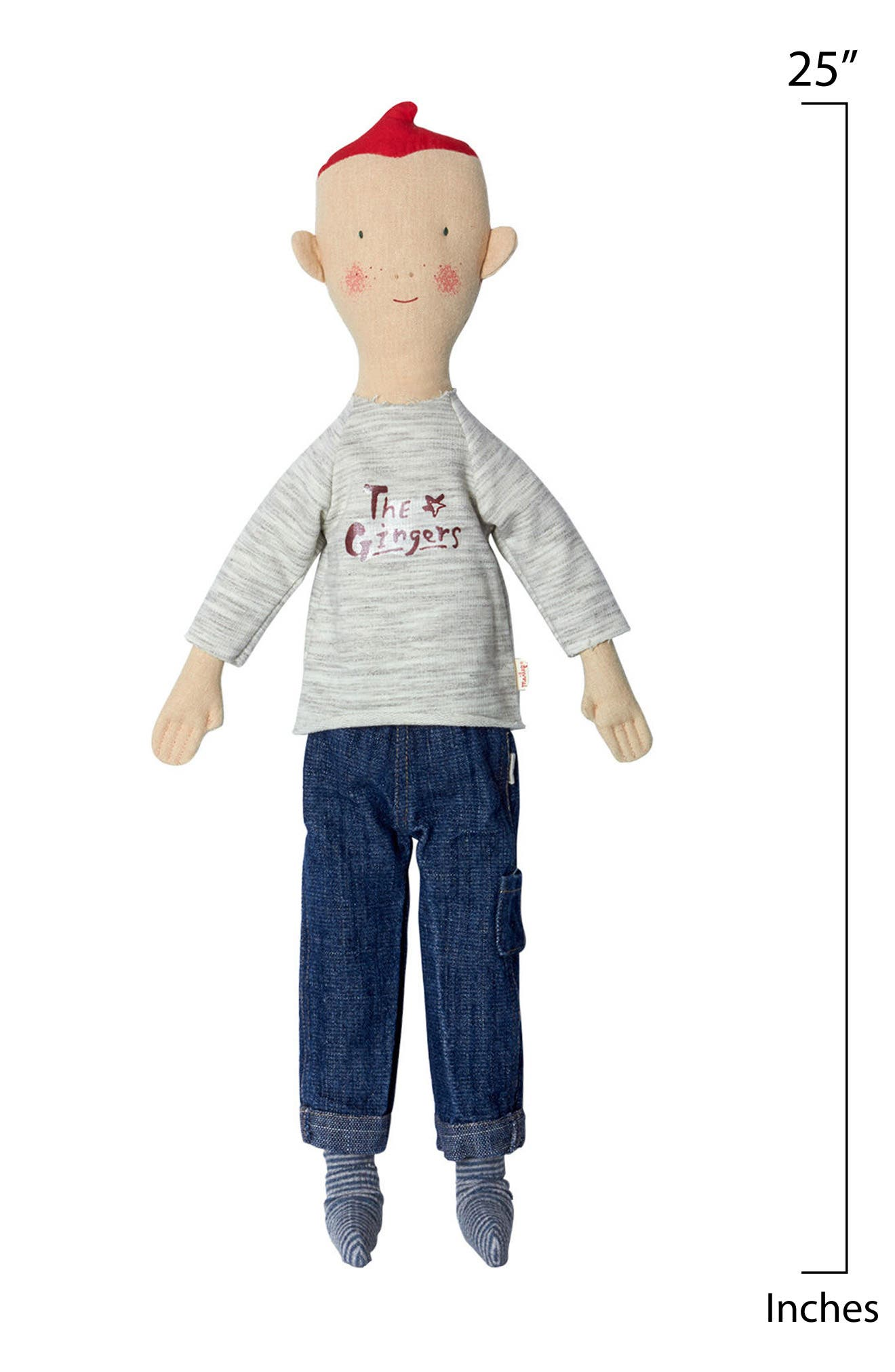 Size 2 Ginger Brother Doll,                             Alternate thumbnail 2, color,                             IVORY