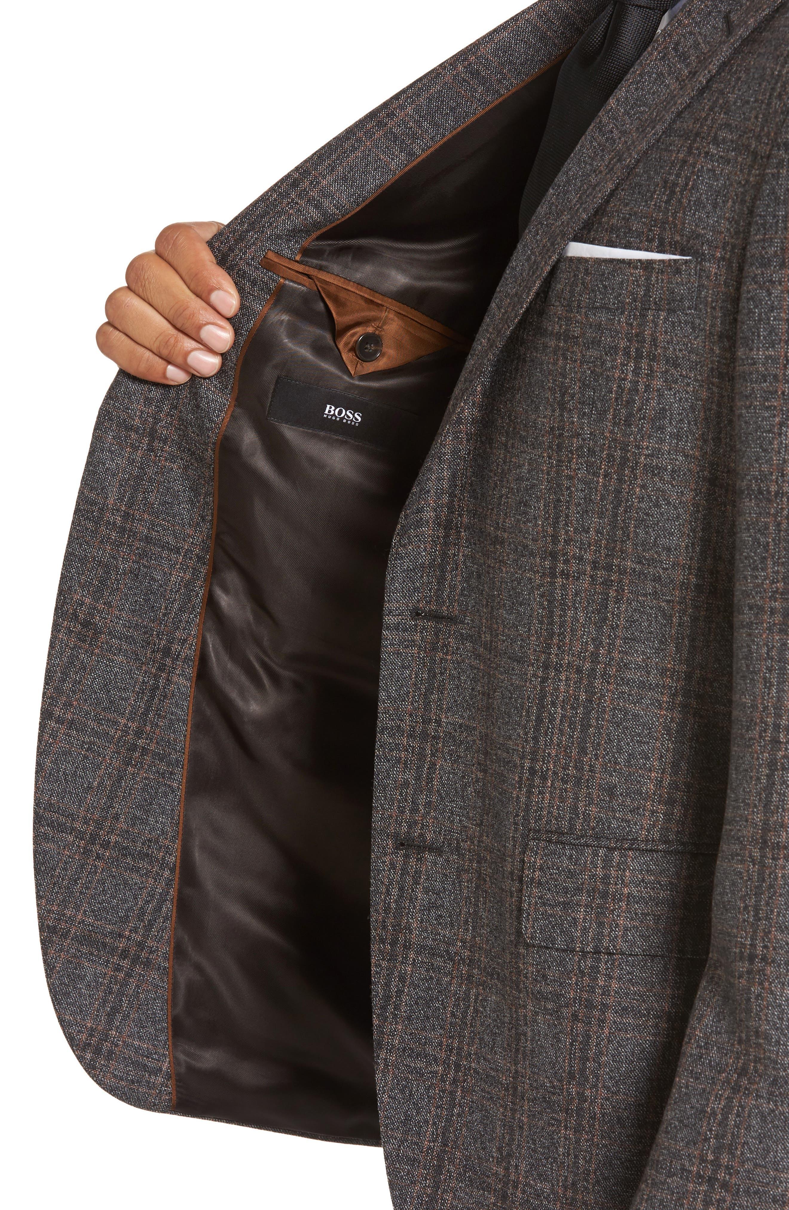 Jeen Trim Fit Plaid Wool Sport Coat,                             Alternate thumbnail 4, color,                             202