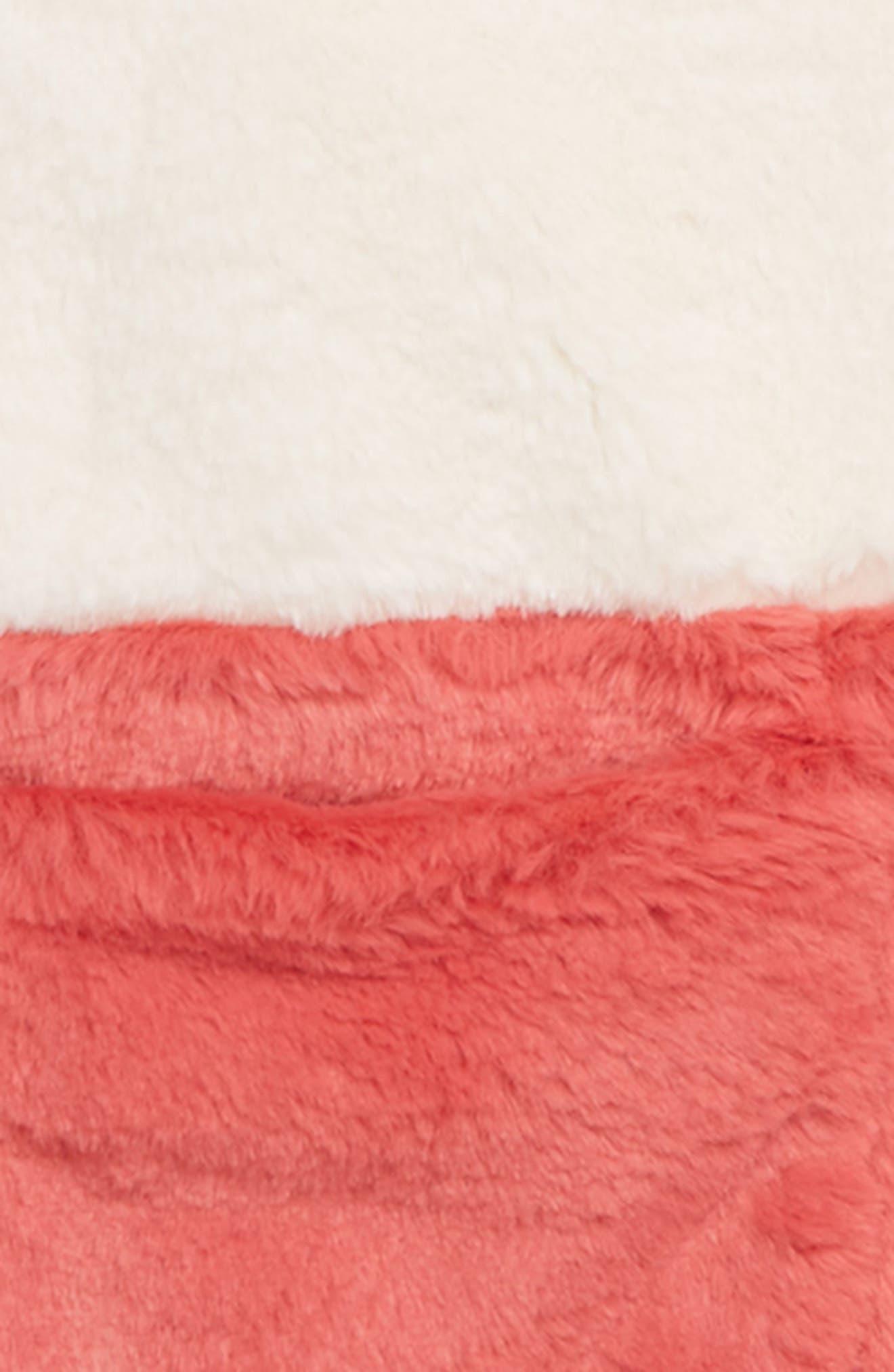 Party Colorblock Faux Fur Coat,                             Alternate thumbnail 2, color,                             ECRU COLOURBLOCK