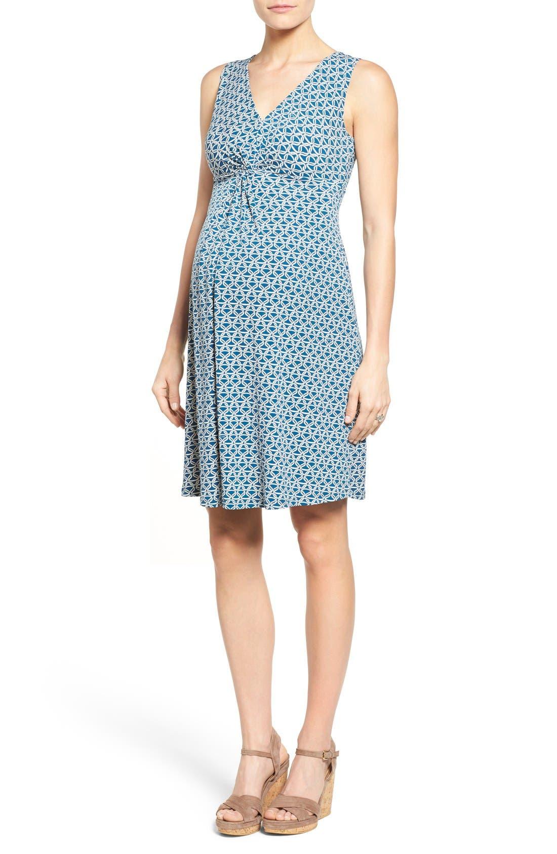 Leota Sleeveless Maternity Dress, Blue
