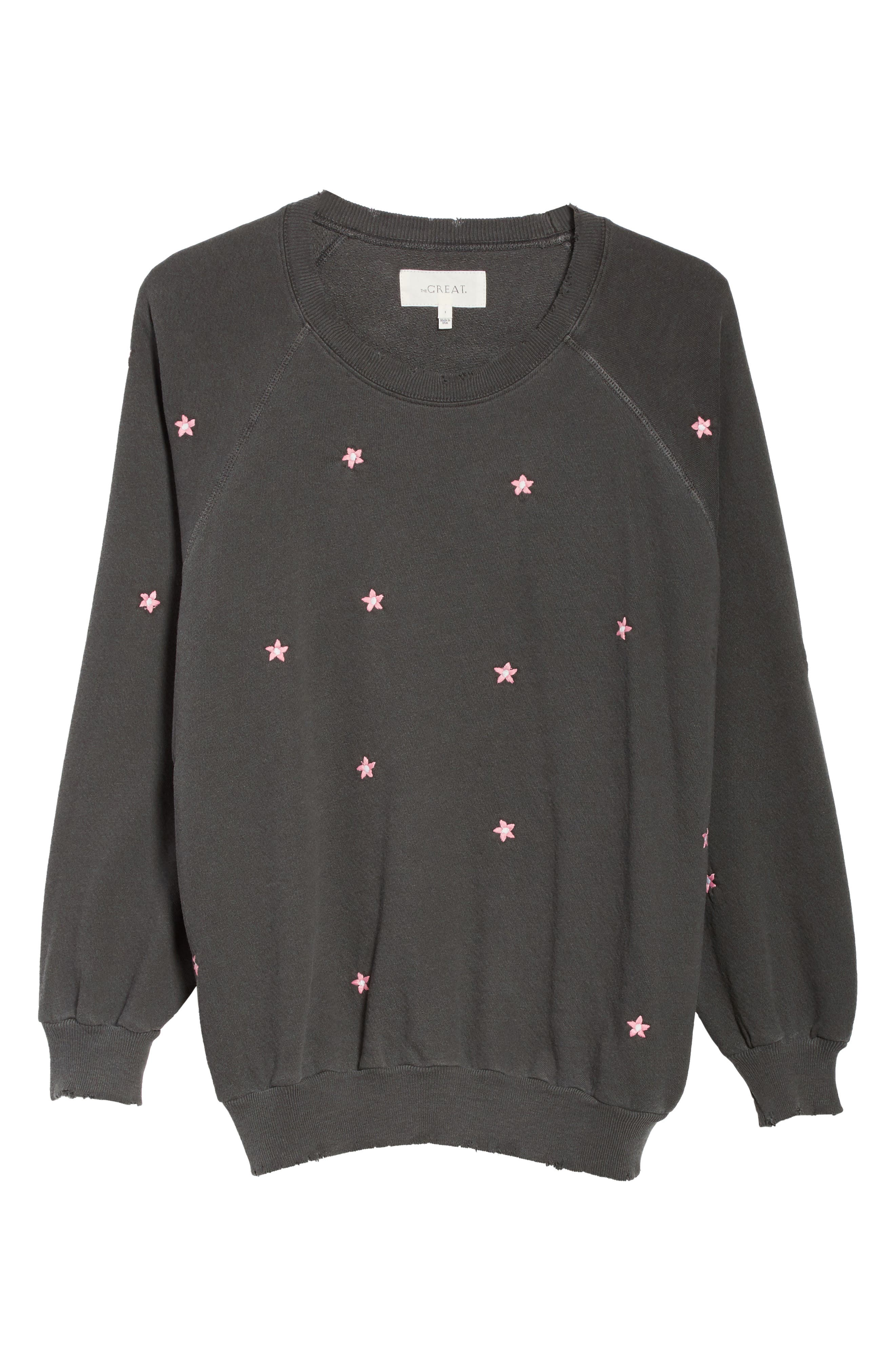 The Embroidered Bubble Sweatshirt,                             Alternate thumbnail 6, color,                             001