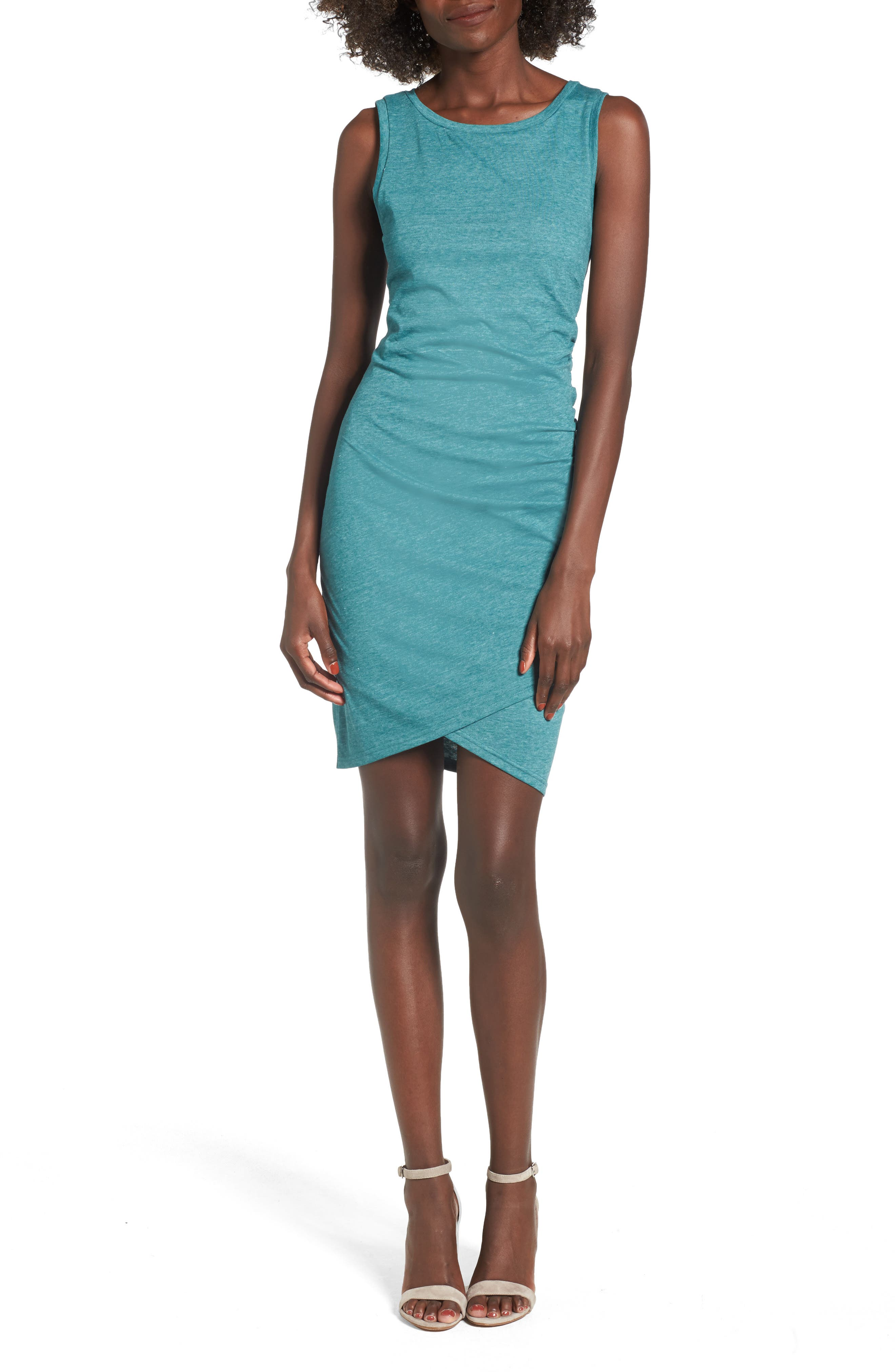 Ruched Body-Con Tank Dress,                             Main thumbnail 2, color,