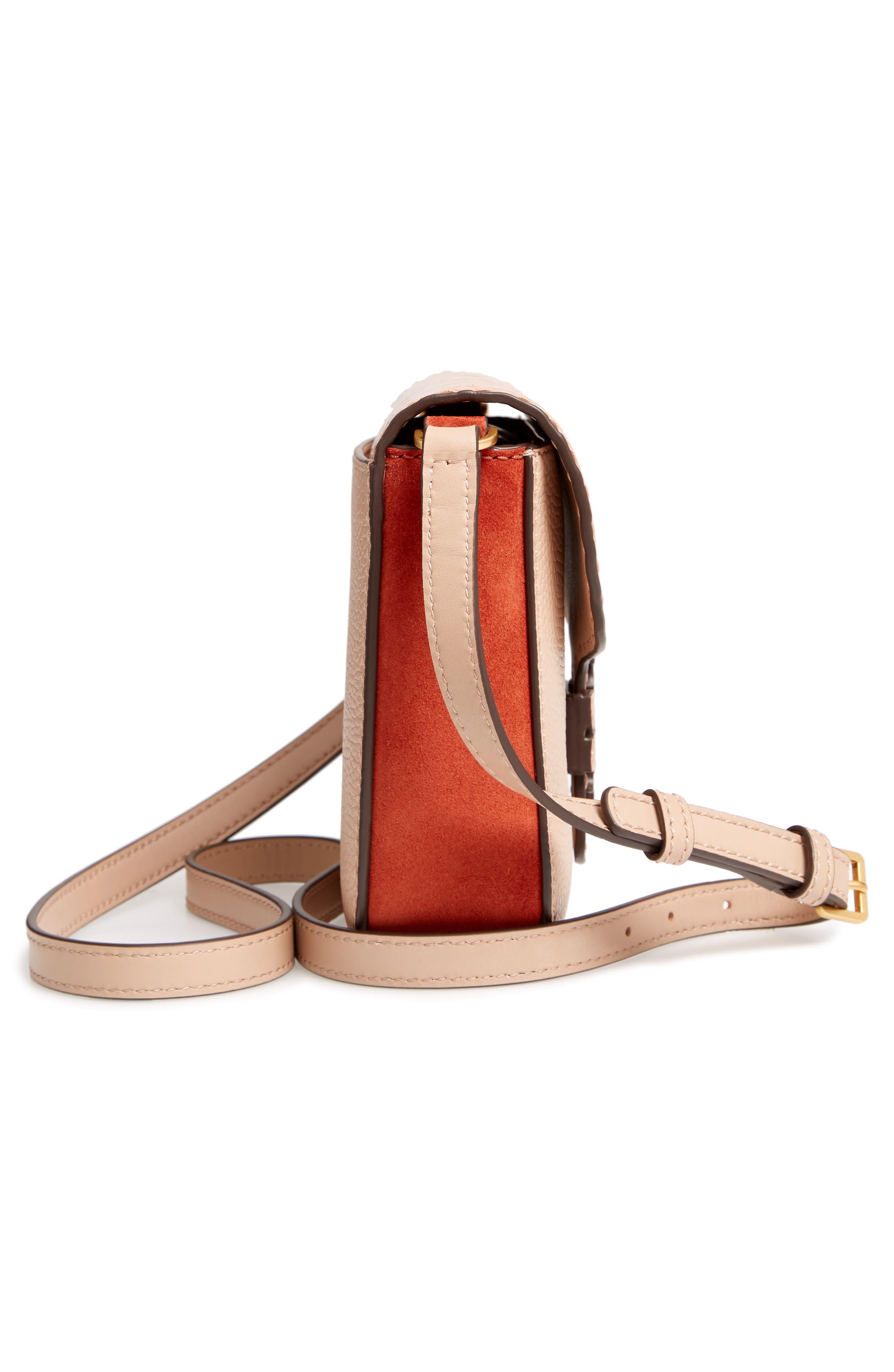 McGraw Croc Embossed Leather Crossbody Bag,                             Alternate thumbnail 5, color,                             200