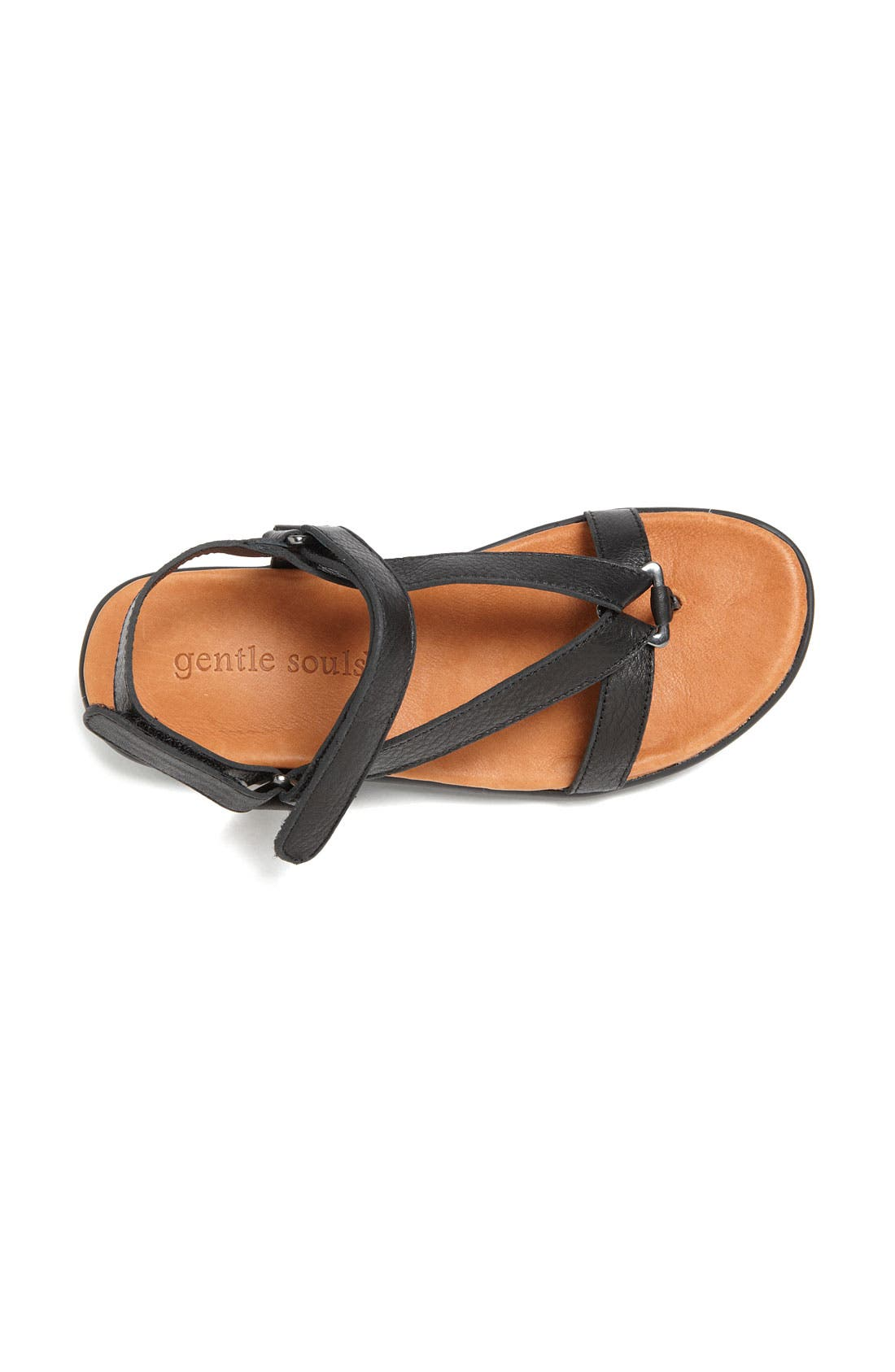 Gentle Souls 'Go Mingle' Sandal,                             Alternate thumbnail 4, color,                             001