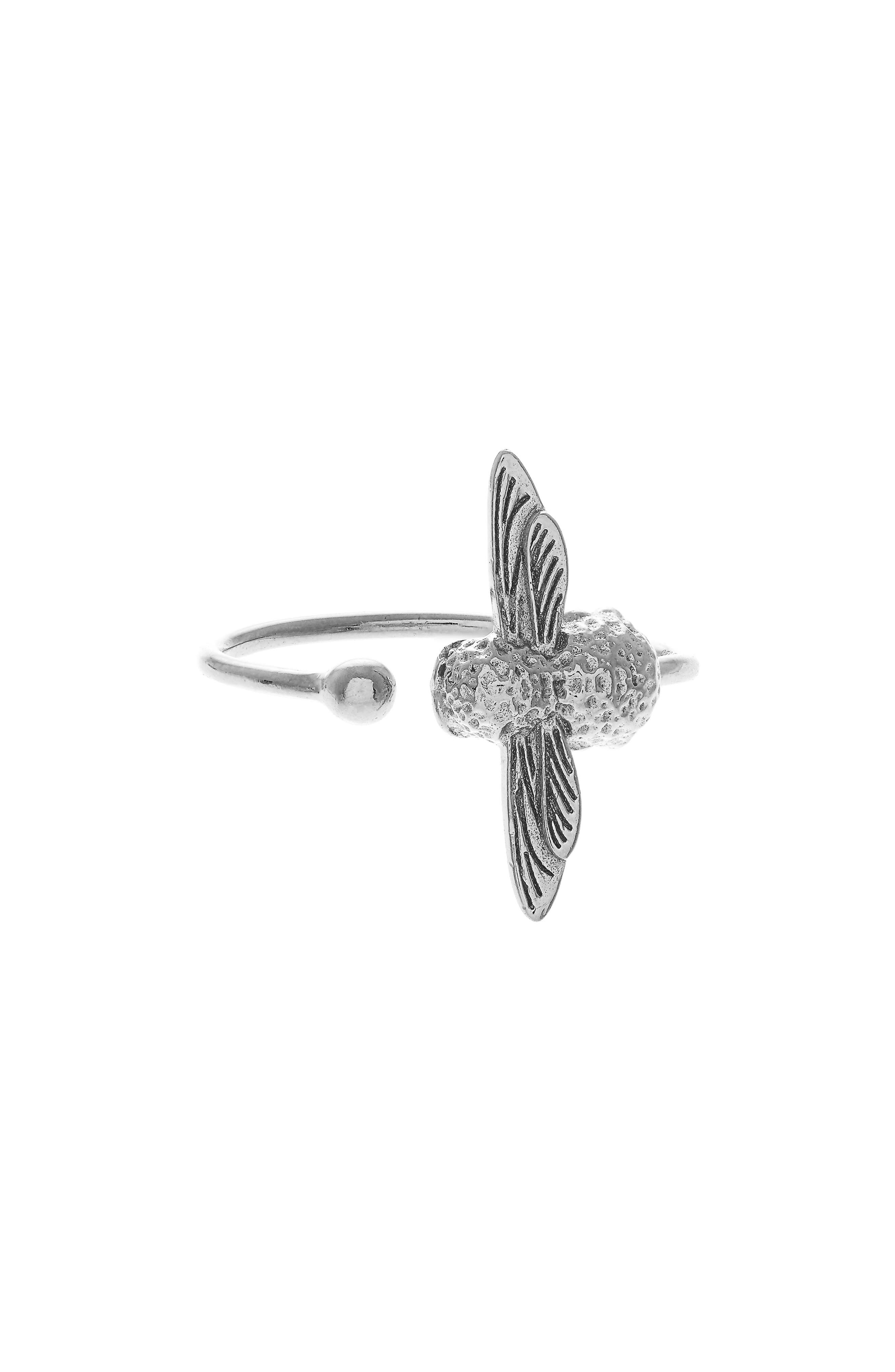 Bee Ring,                         Main,                         color, SILVER