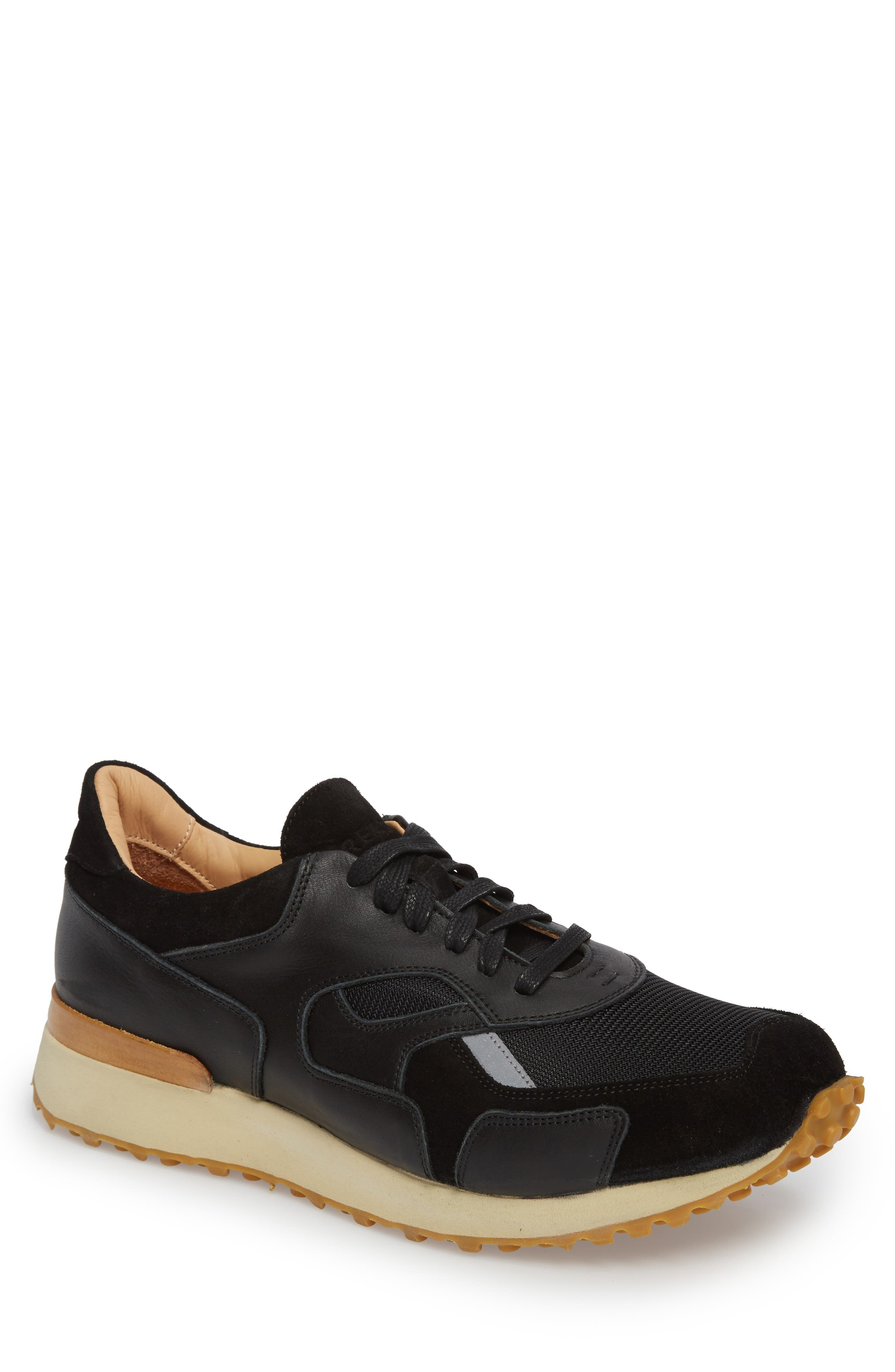 The Pronto Sneaker,                             Main thumbnail 1, color,                             BLACK LEATHER