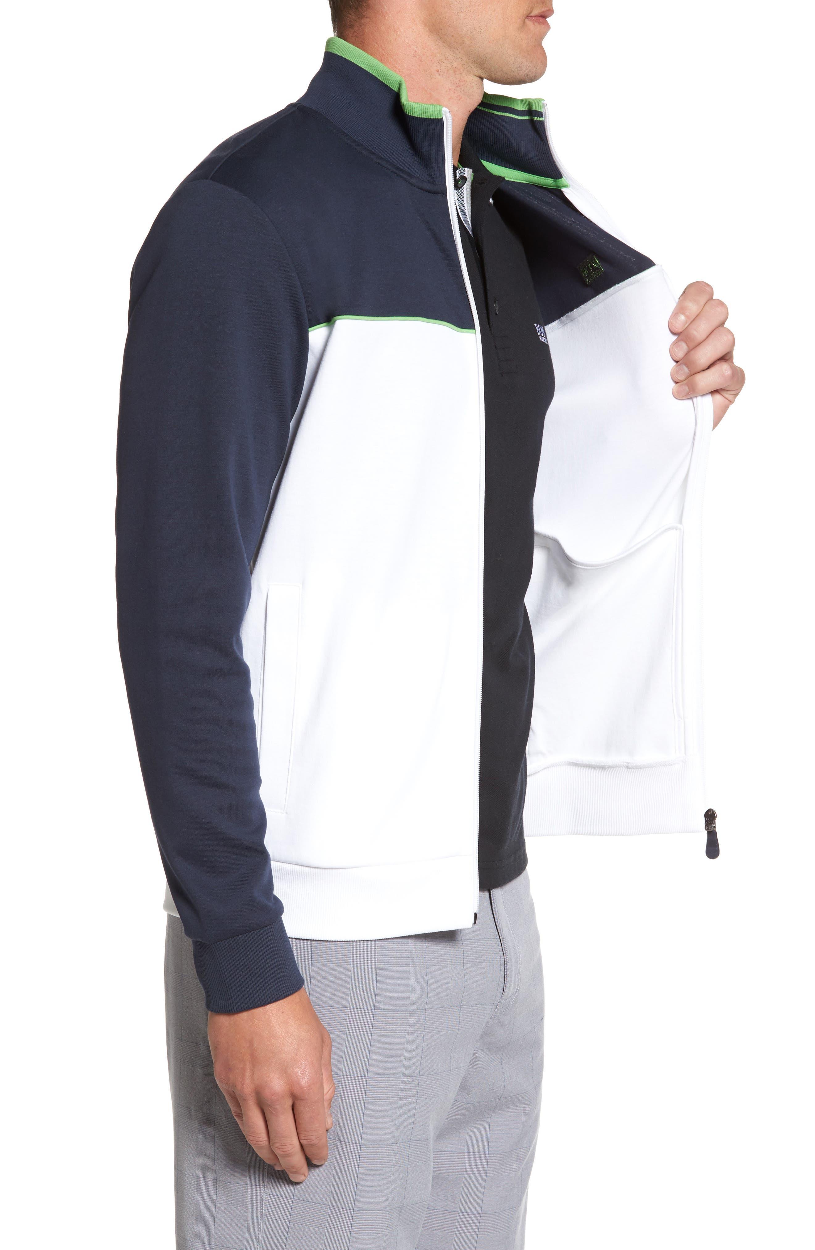 Skaz Full Zip Fleece Jacket,                             Alternate thumbnail 3, color,                             WHITE