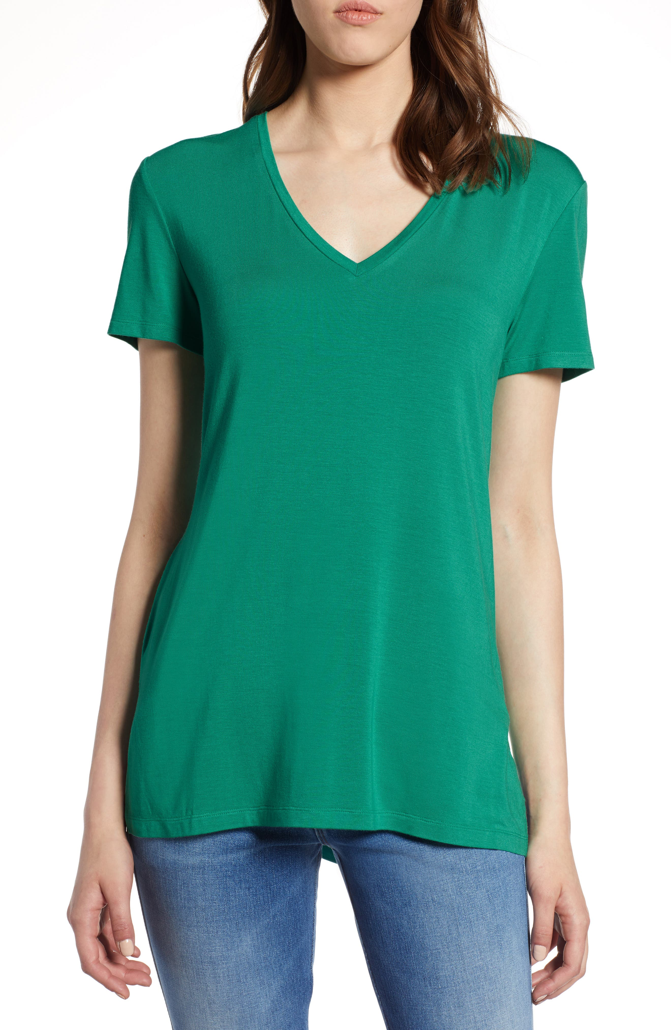 V-Neck Tunic Tee,                             Main thumbnail 4, color,