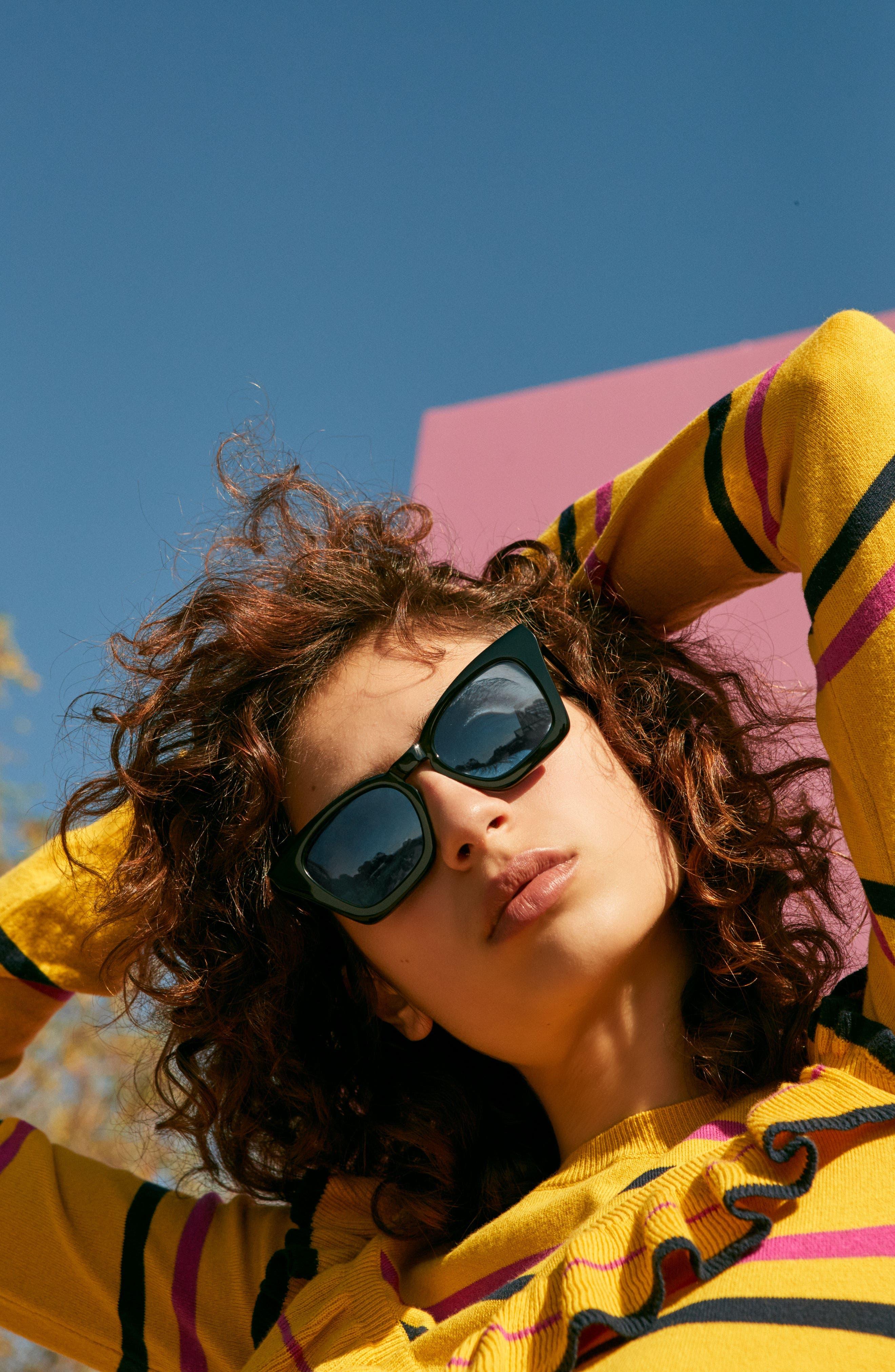 Ginza 50mm Cat Eye Sunglasses,                             Alternate thumbnail 14, color,