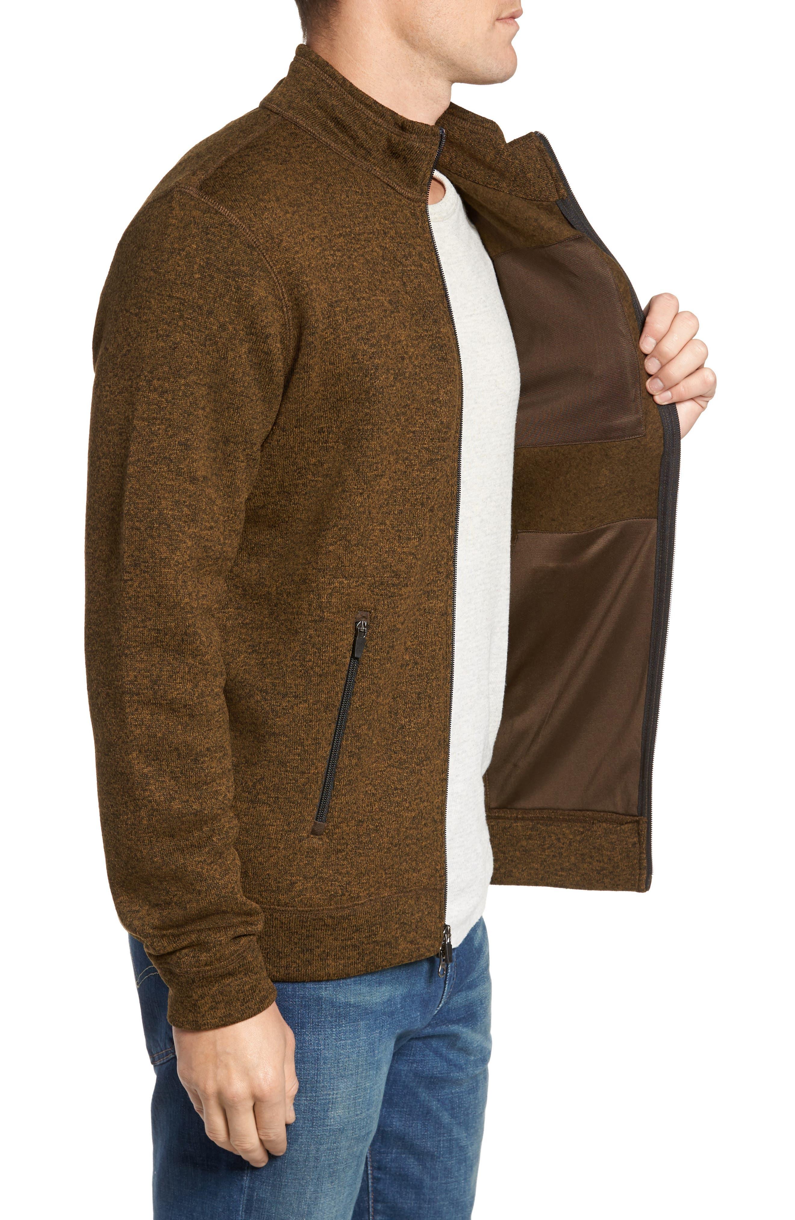 Sweater Knit Fleece Zip Front Jacket,                             Alternate thumbnail 8, color,