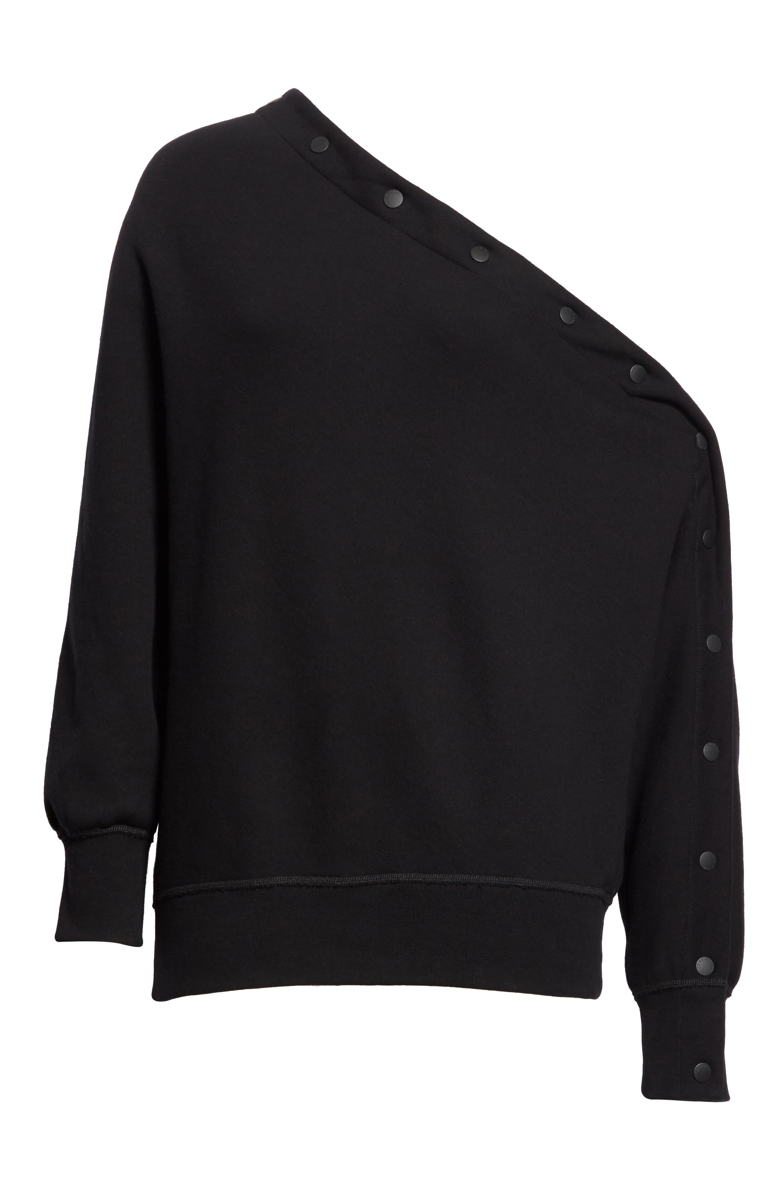 Kate Side Snap Cold Shoulder Sweatshirt,                             Alternate thumbnail 11, color,