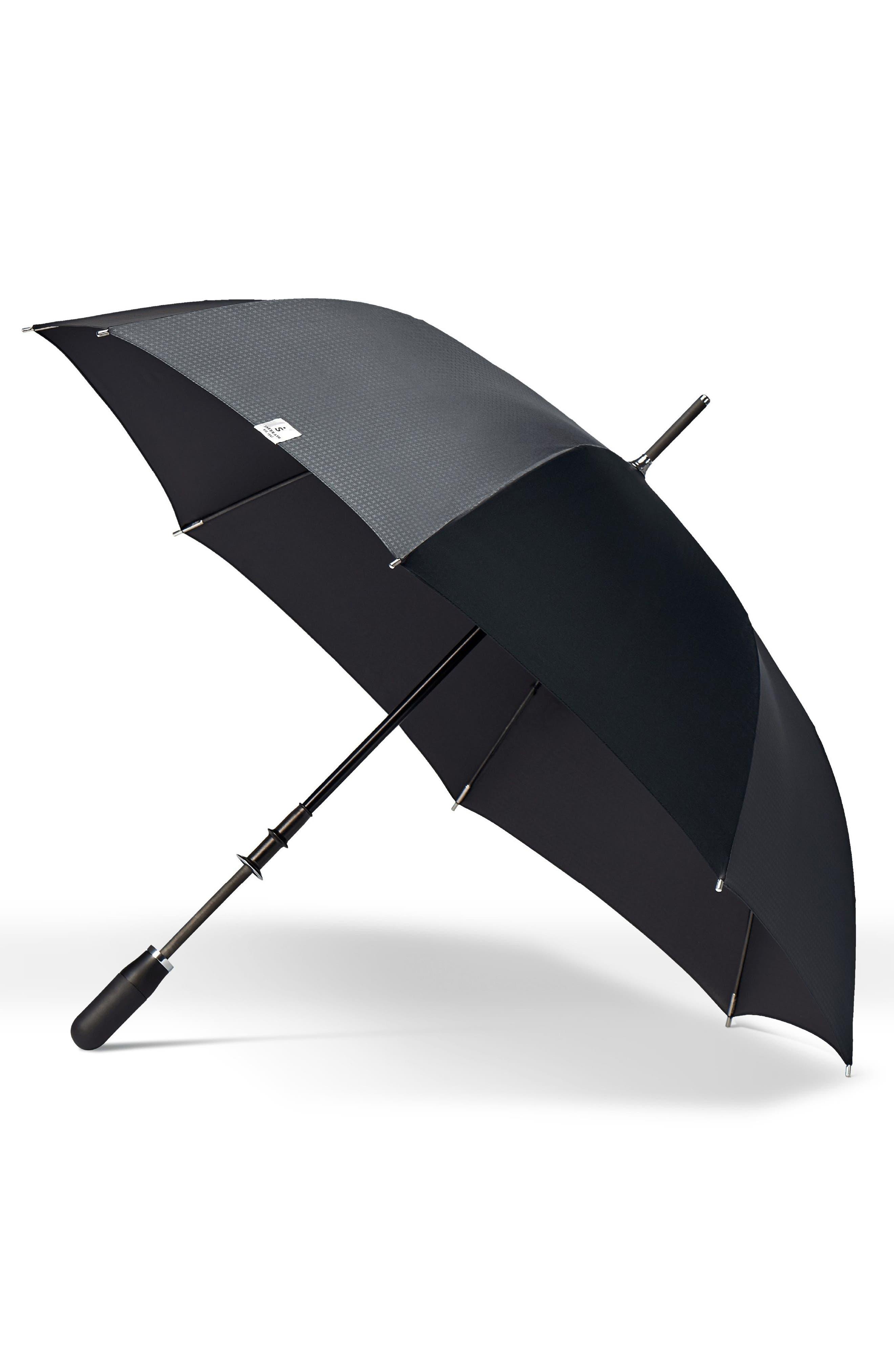 Stratus Auto Open Stick Umbrella,                             Main thumbnail 1, color,