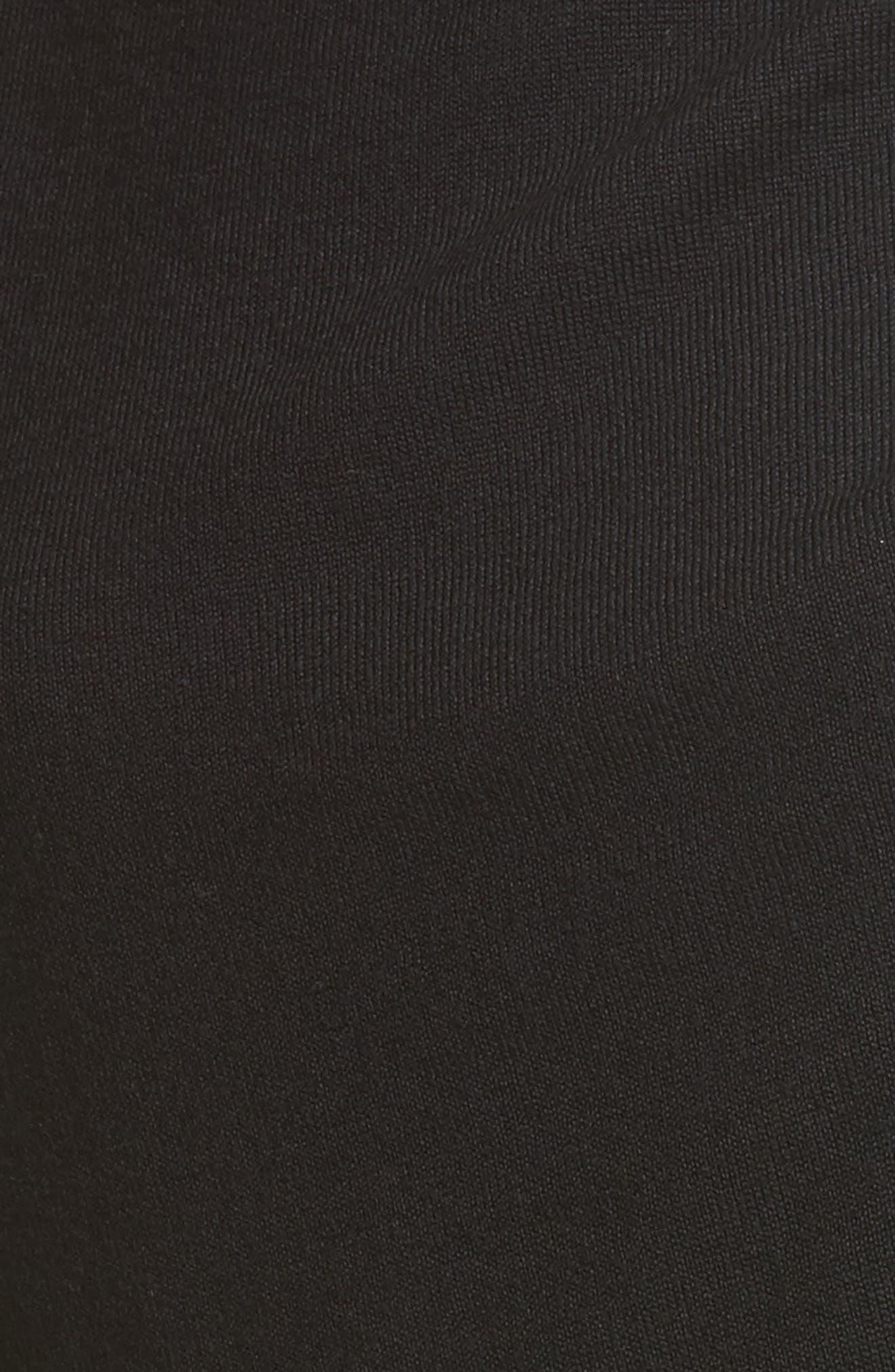 Merino Wool Sweater,                             Alternate thumbnail 5, color,                             001